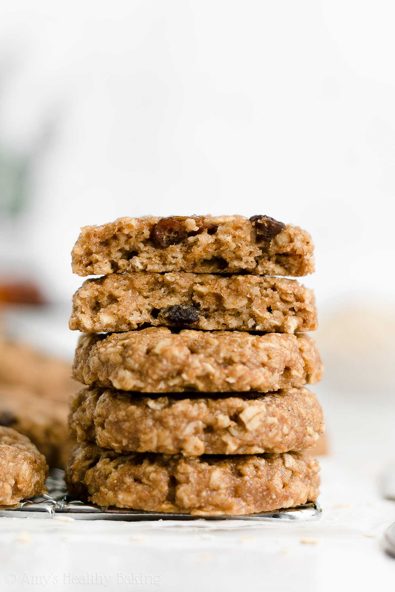 Best Easy Soft Chewy Healthy Vegan Gluten Free Flourless Oatmeal Raisin Cookies