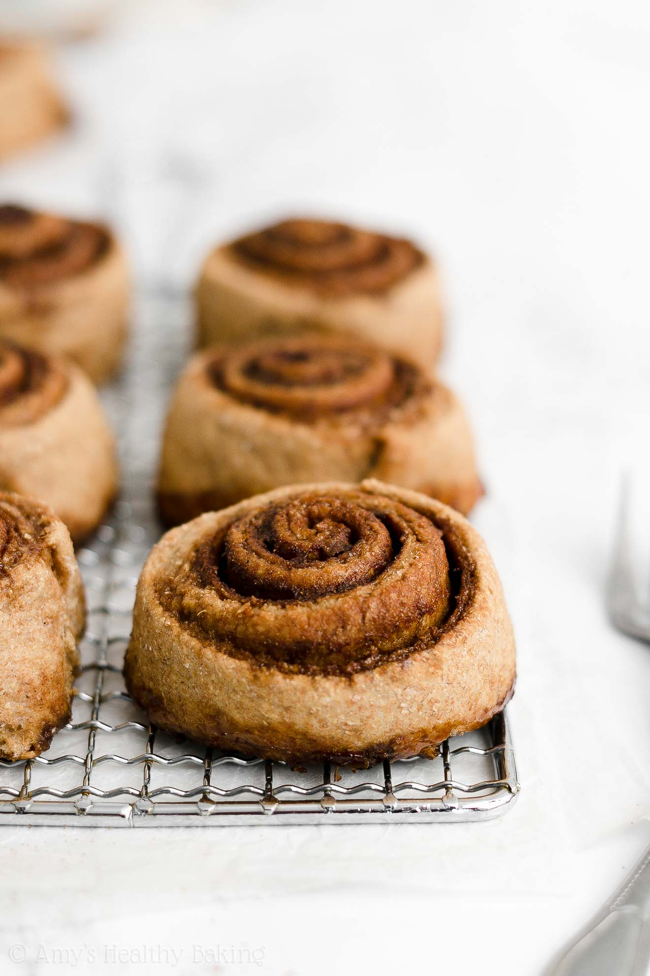 ULTIMATE Best Ever Healthy Whole Grain Low Calorie Cinnamon Rolls From Scratch