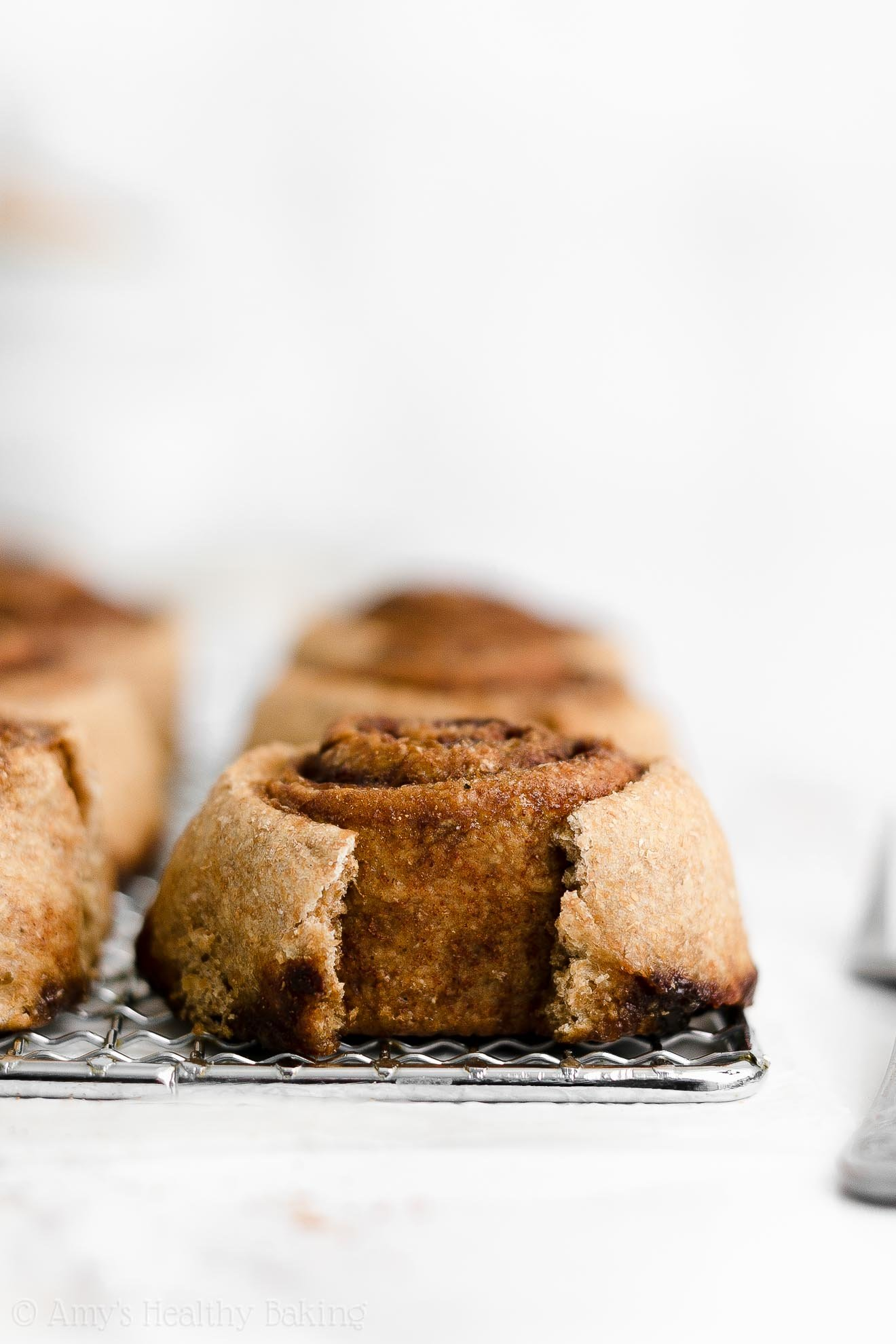 ULTIMATE Best Ever Healthy Clean Eating Whole Wheat Fluffy Cinnamon Rolls