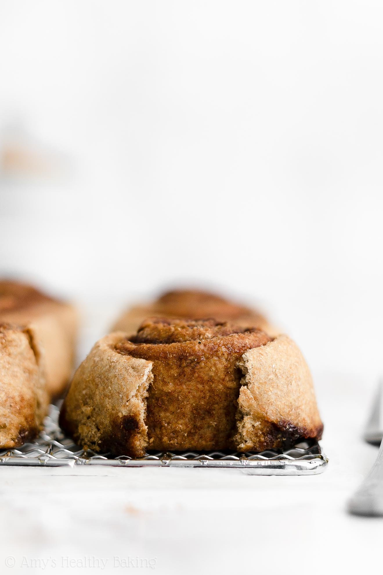ULTIMATE Best Ever Healthy Whole Wheat Clean Eating Low Fat Cinnamon Rolls
