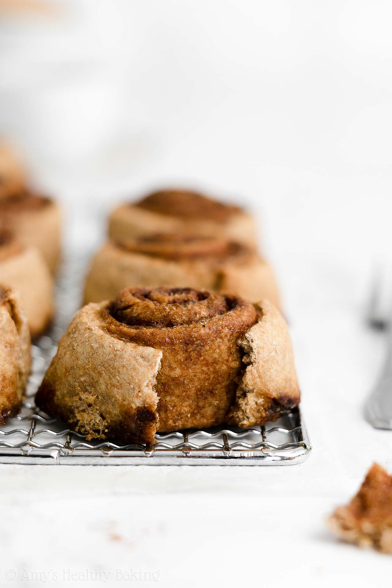 ULTIMATE Best Ever Healthy Whole Grain Low Calorie Tender Fluffy Cinnamon Rolls