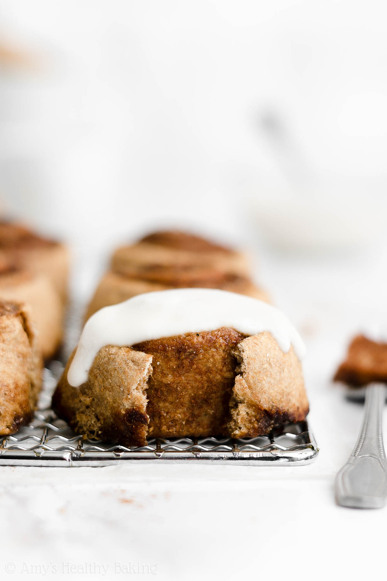 ULTIMATE Best Ever Healthy Cinnamon Rolls + Yogurt Frosting No Cream Cheese