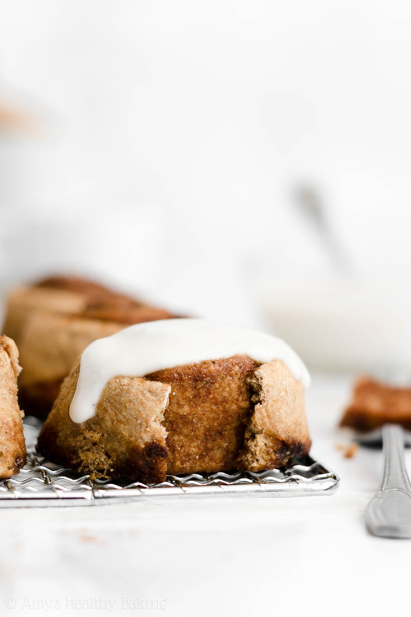 ULTIMATE Best Ever Healthy Cinnamon Rolls & Frosting Without Cream Cheese