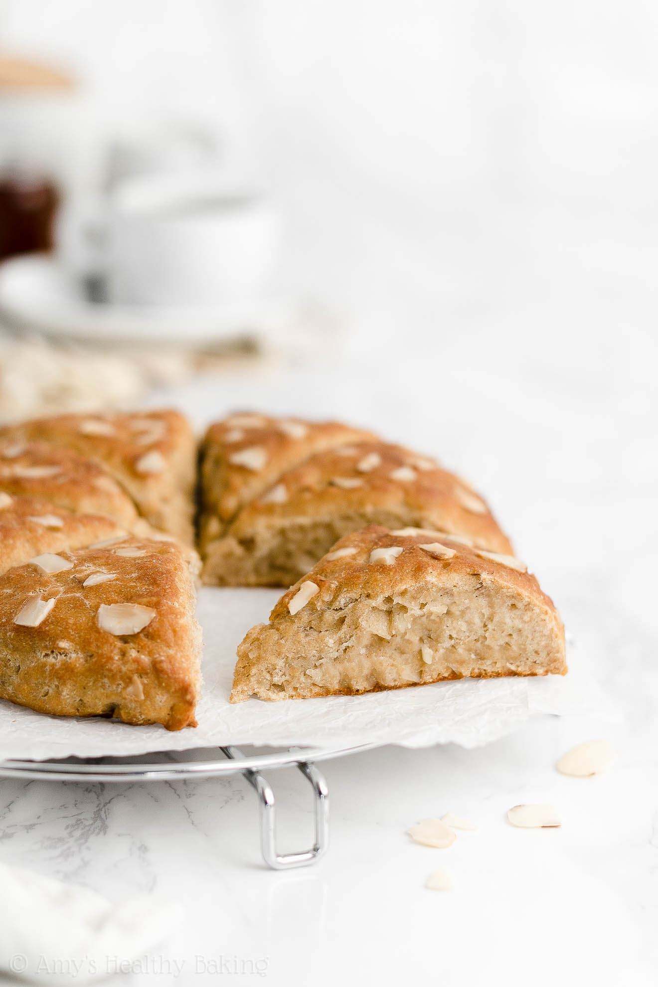 Best Easy Healthy Homemade Moist Low Fat Gluten Free Vegan Almond Scones