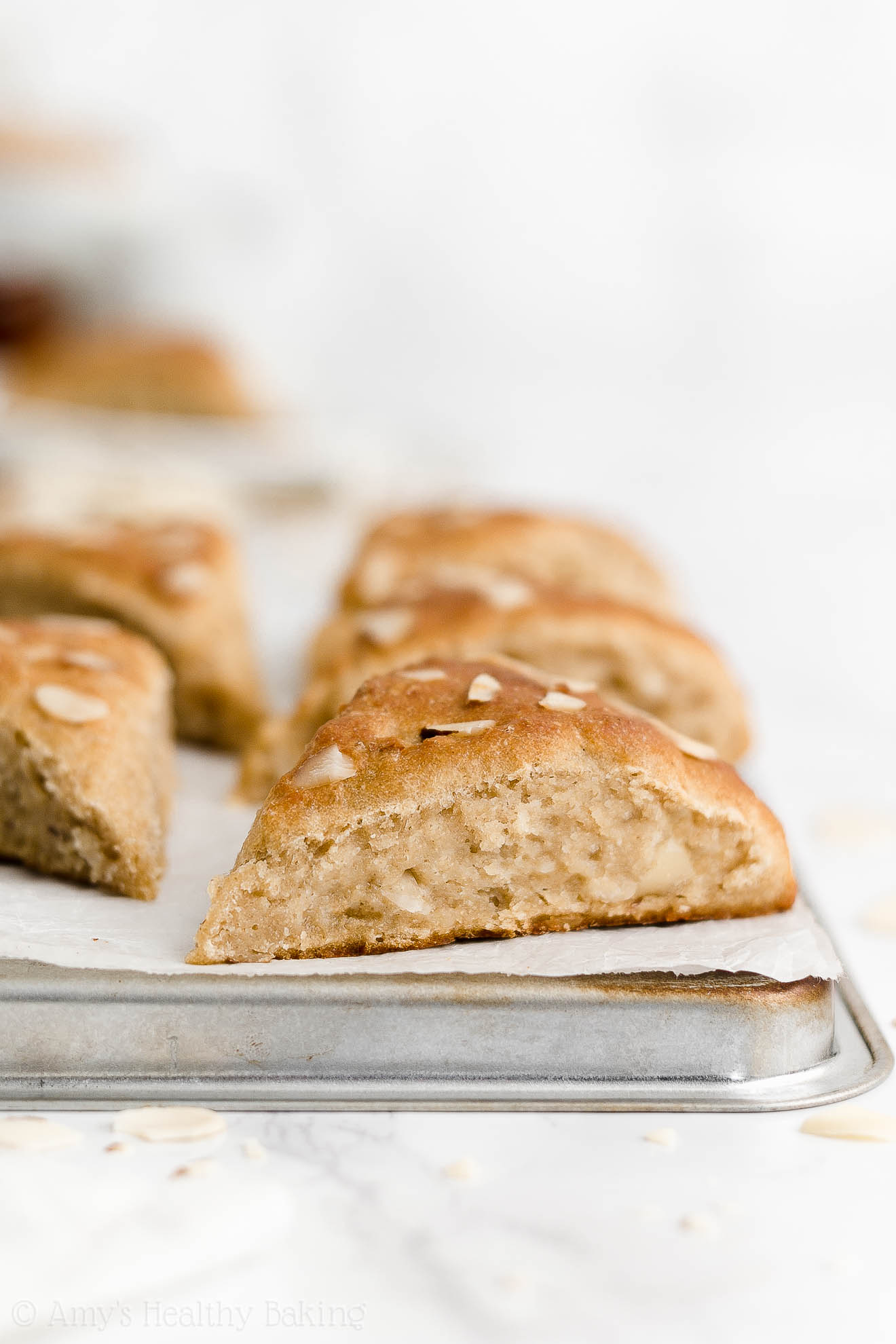 Best Easy Healthy Homemade Low Calorie Gluten Free Vegan Almond Scones