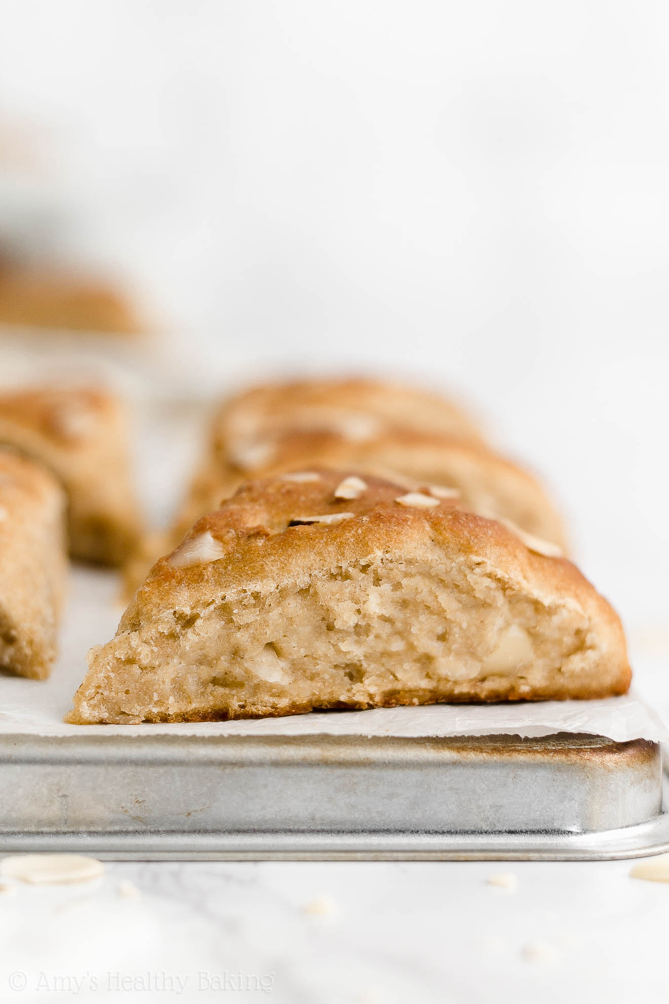 Best Easy Healthy Low Sugar Whole Wheat Egg Free Moist Almond Scones
