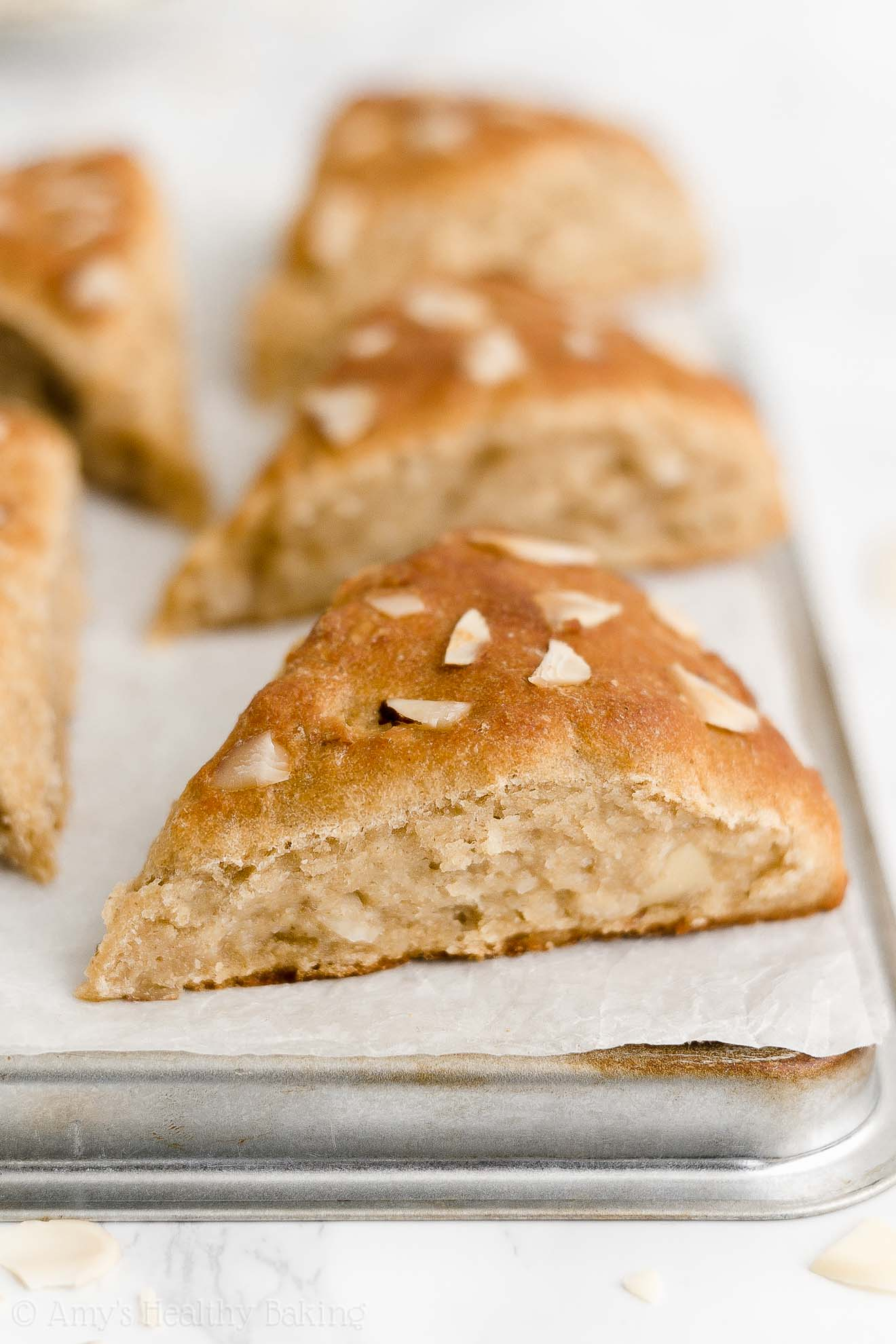 Best Easy Healthy Moist Low Calorie No Sugar Dairy Free Vegan Almond Scones