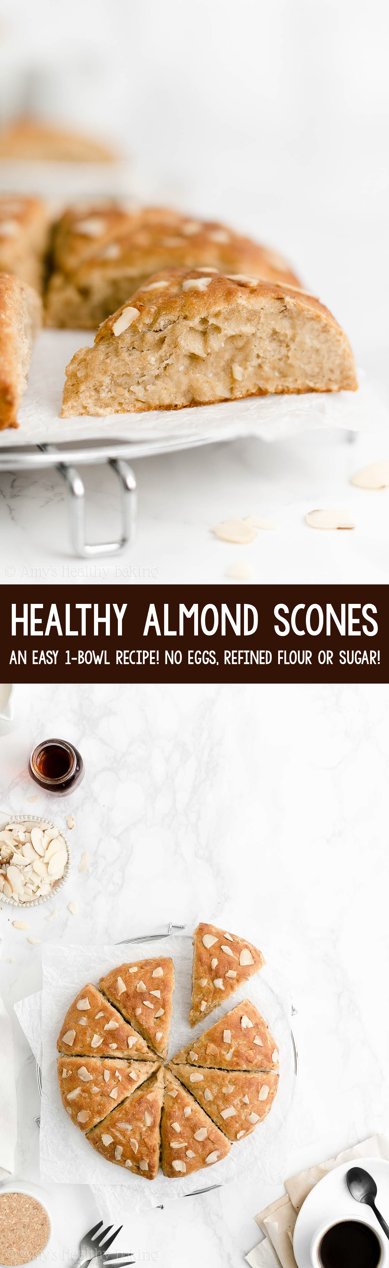 Best Easy Healthy Homemade Clean Eating Low Calorie Greek Yogurt Almond Scones