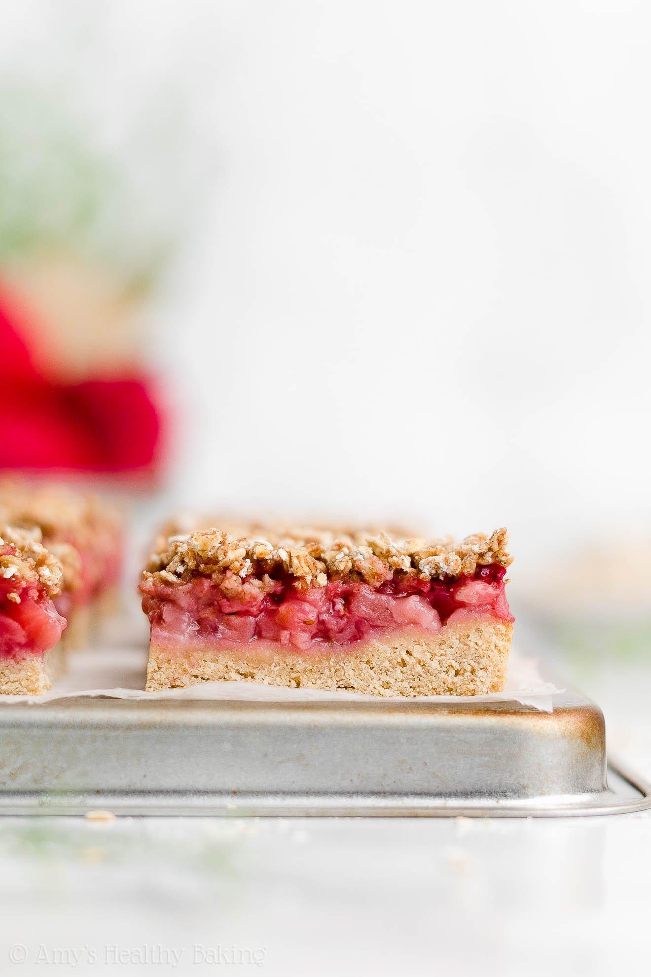Healthy Strawberry Crumble Bars {Eggless & Dairy-Free!}