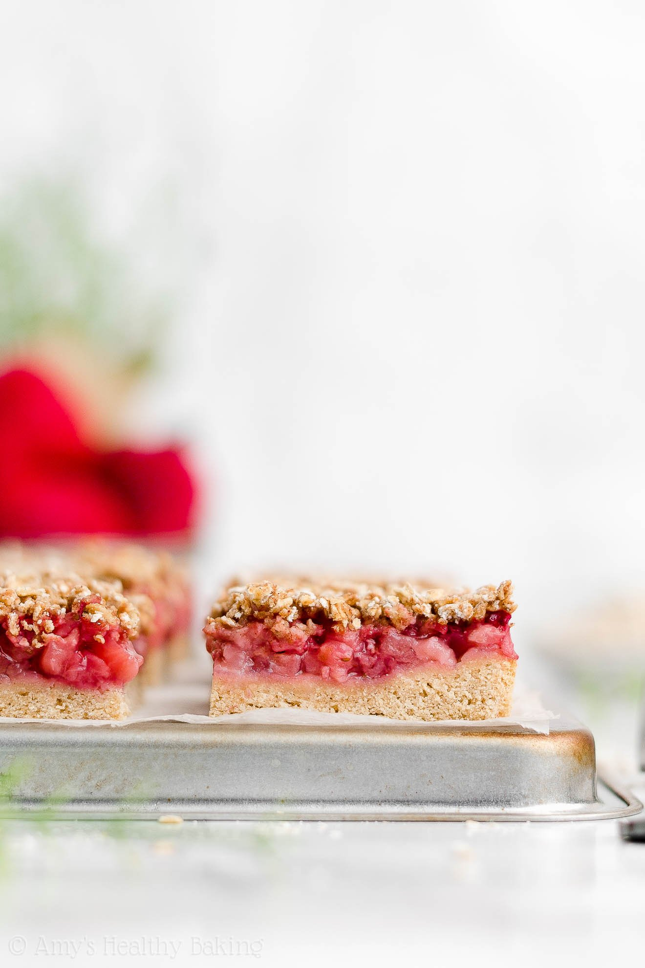 Best Easy Healthy Clean Eating Low Sugar Egg Free Strawberry Oat Crumble Bars