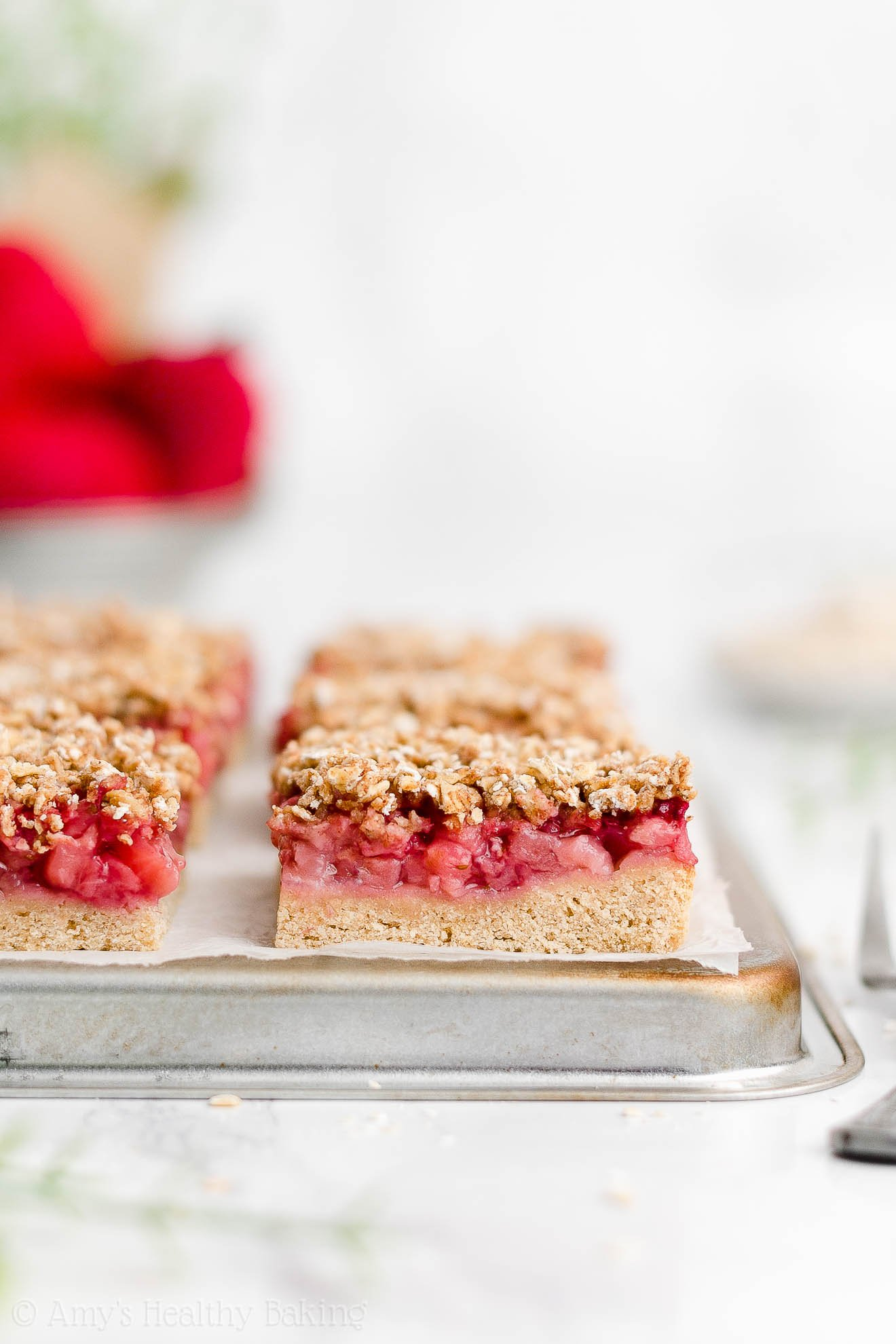 Best Easy Healthy Low Fat Whole Wheat Sugar Free Strawberry Oat Crumble Bars