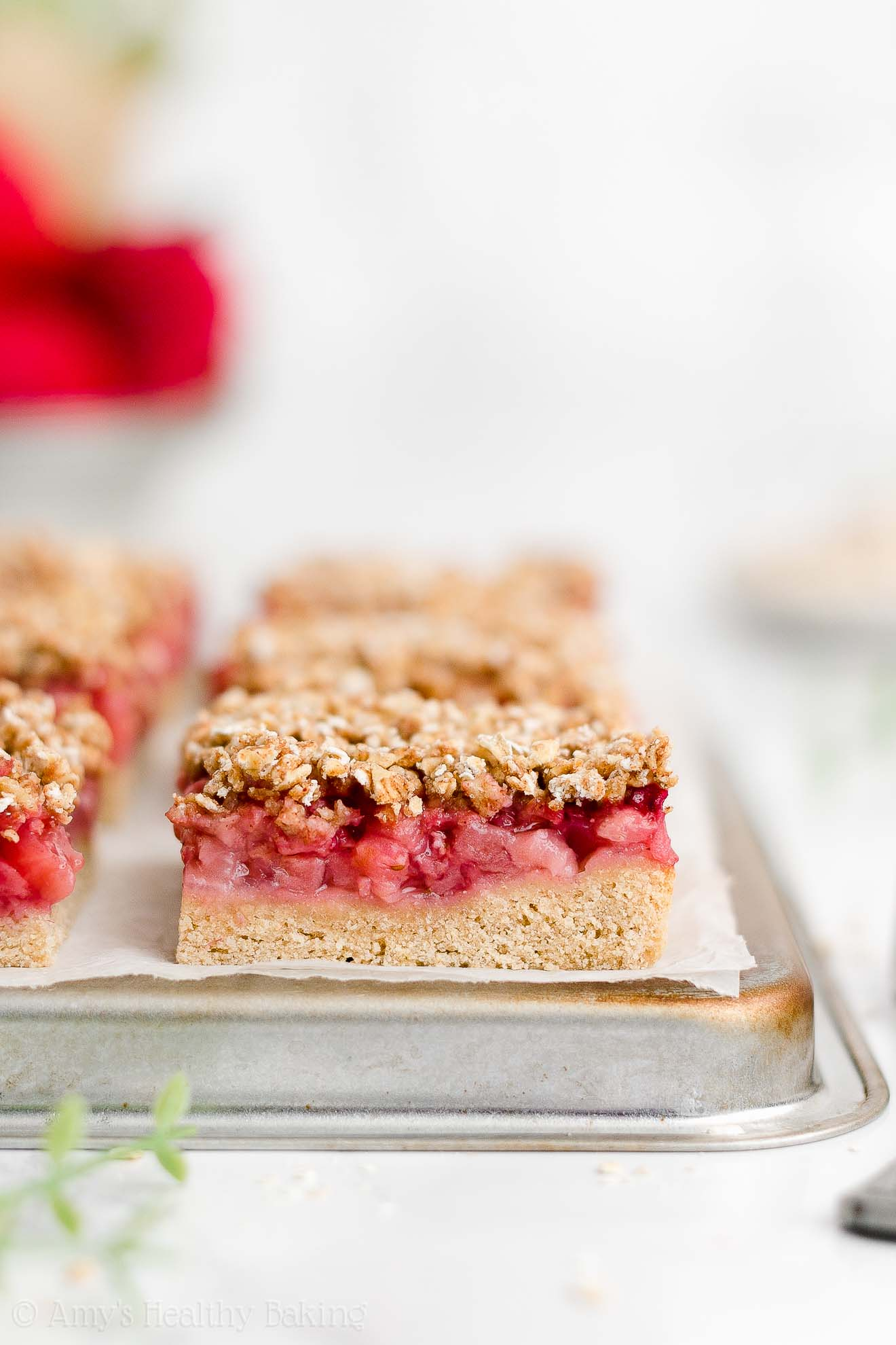 Best Healthy Gluten Free Dairy Free Eggless Strawberry Oatmeal Crumble Bars