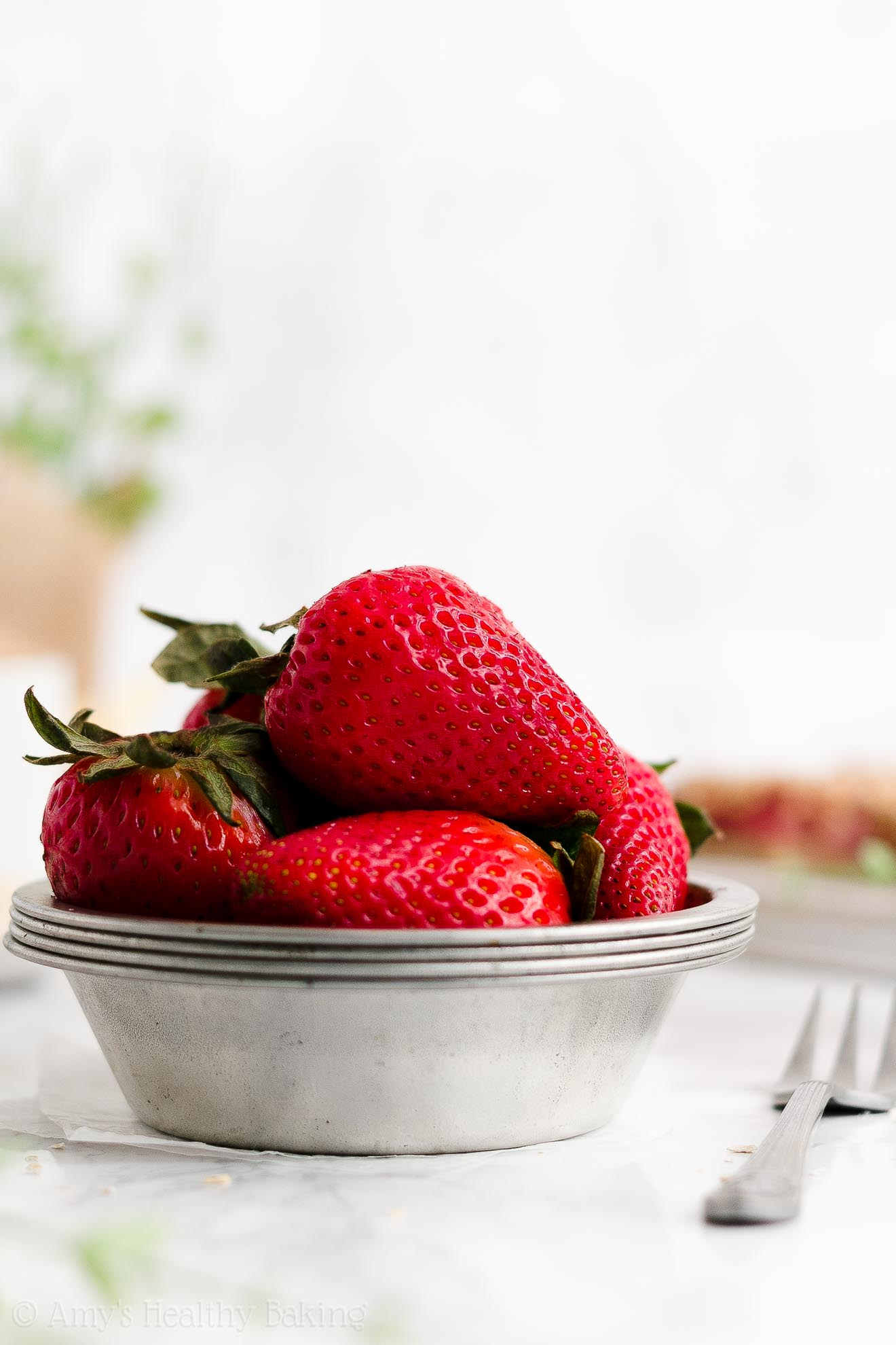 Fresh strawberries for making the BEST Healthy Strawberry Oat Crumble Bars