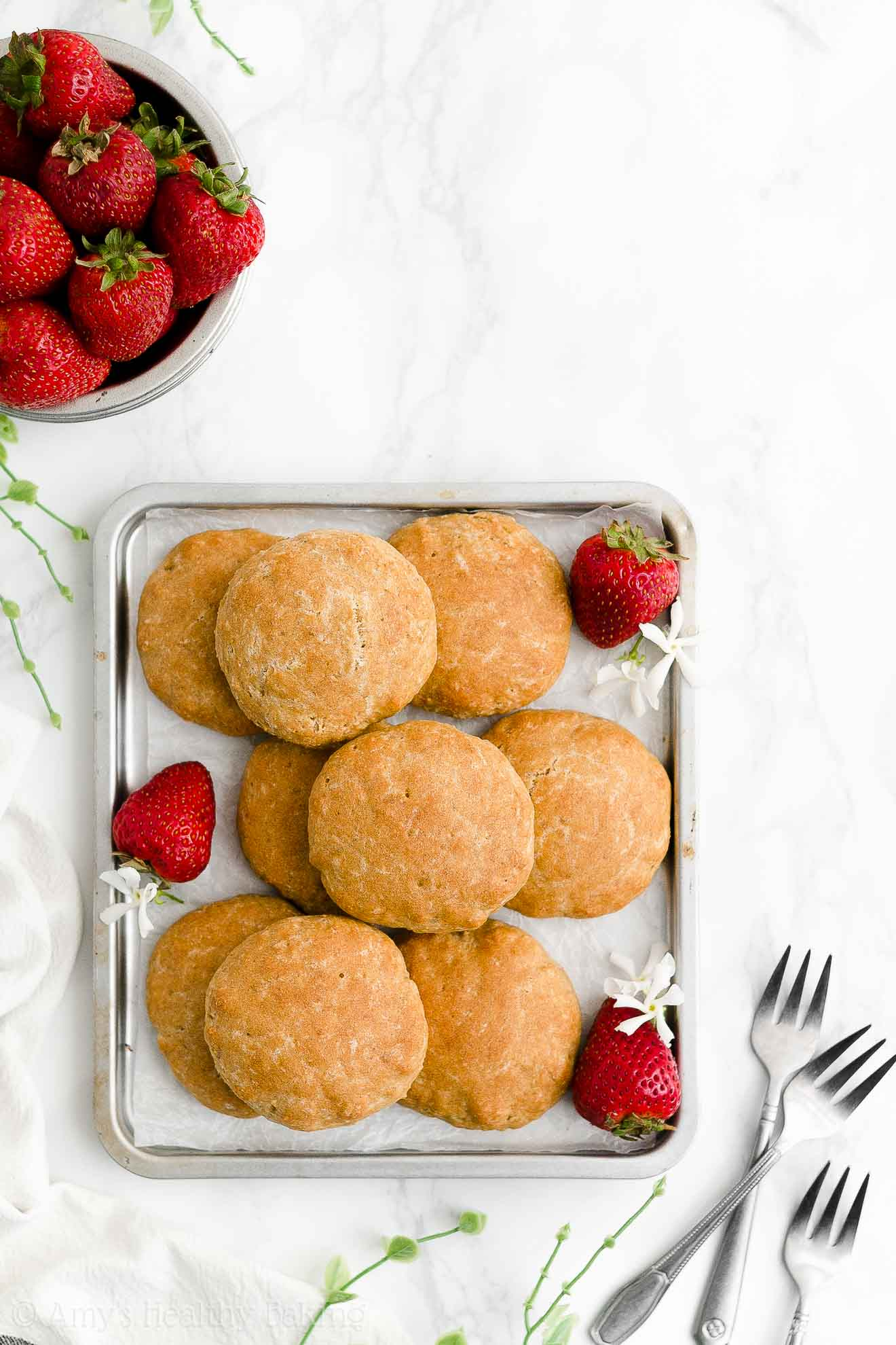 Best Healthy Low Fat Clean Eating Eggless Gluten Free Strawberry Shortcakes