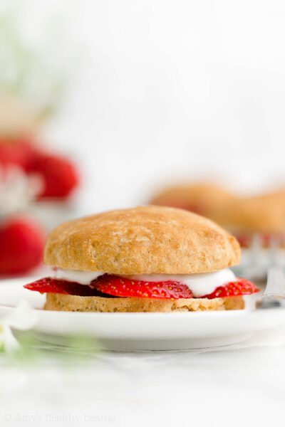 The Ultimate Healthy Strawberry Shortcakes {1-Bowl Recipe, Eggless & A Dairy-Free Option!}