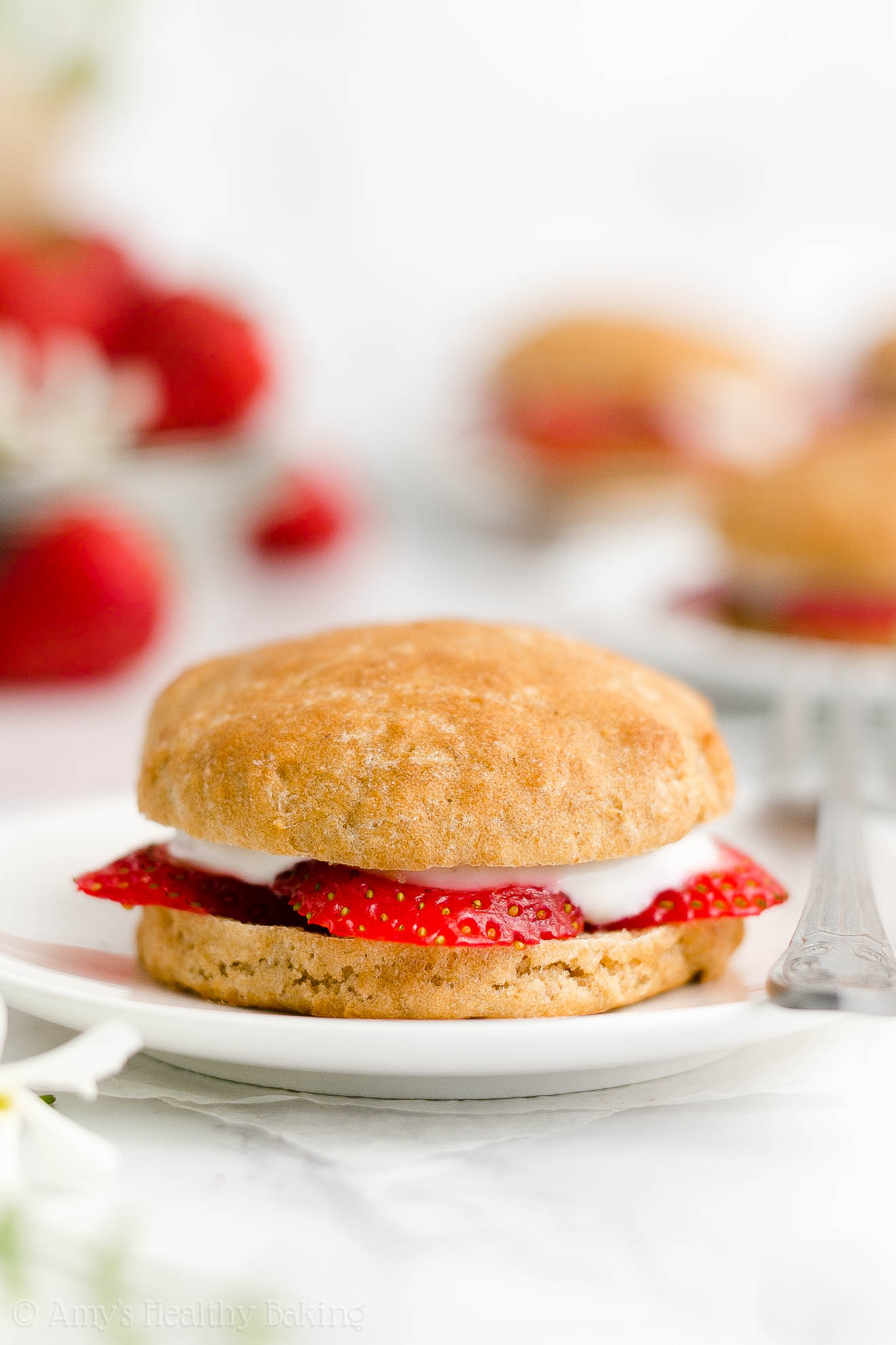 Best Easy Healthy Whole Wheat Low Calorie Classic Strawberry Shortcakes