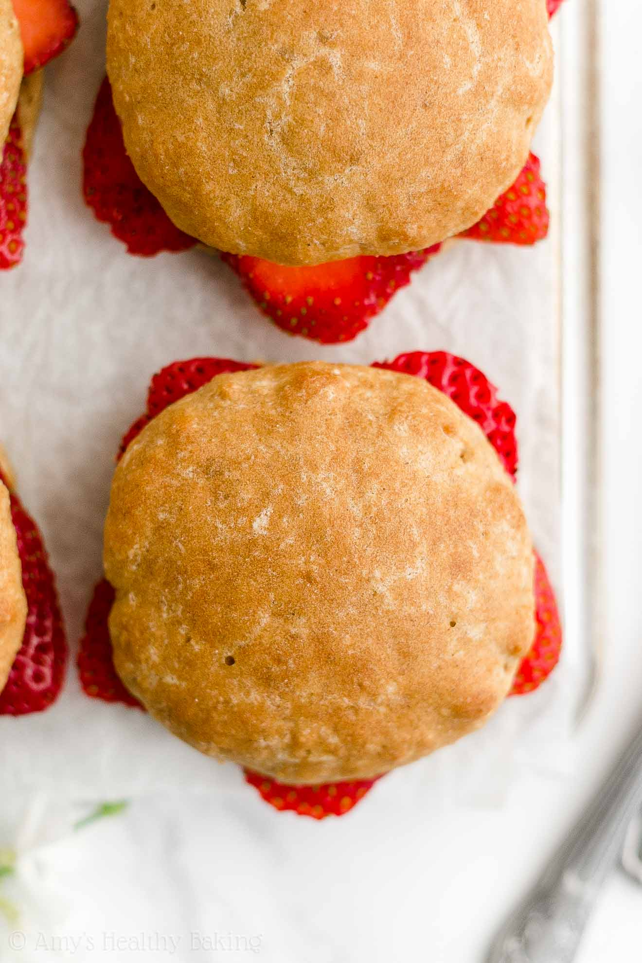 Best Easy Healthy Moist Clean Eating Homemade Classic Strawberry Shortcakes