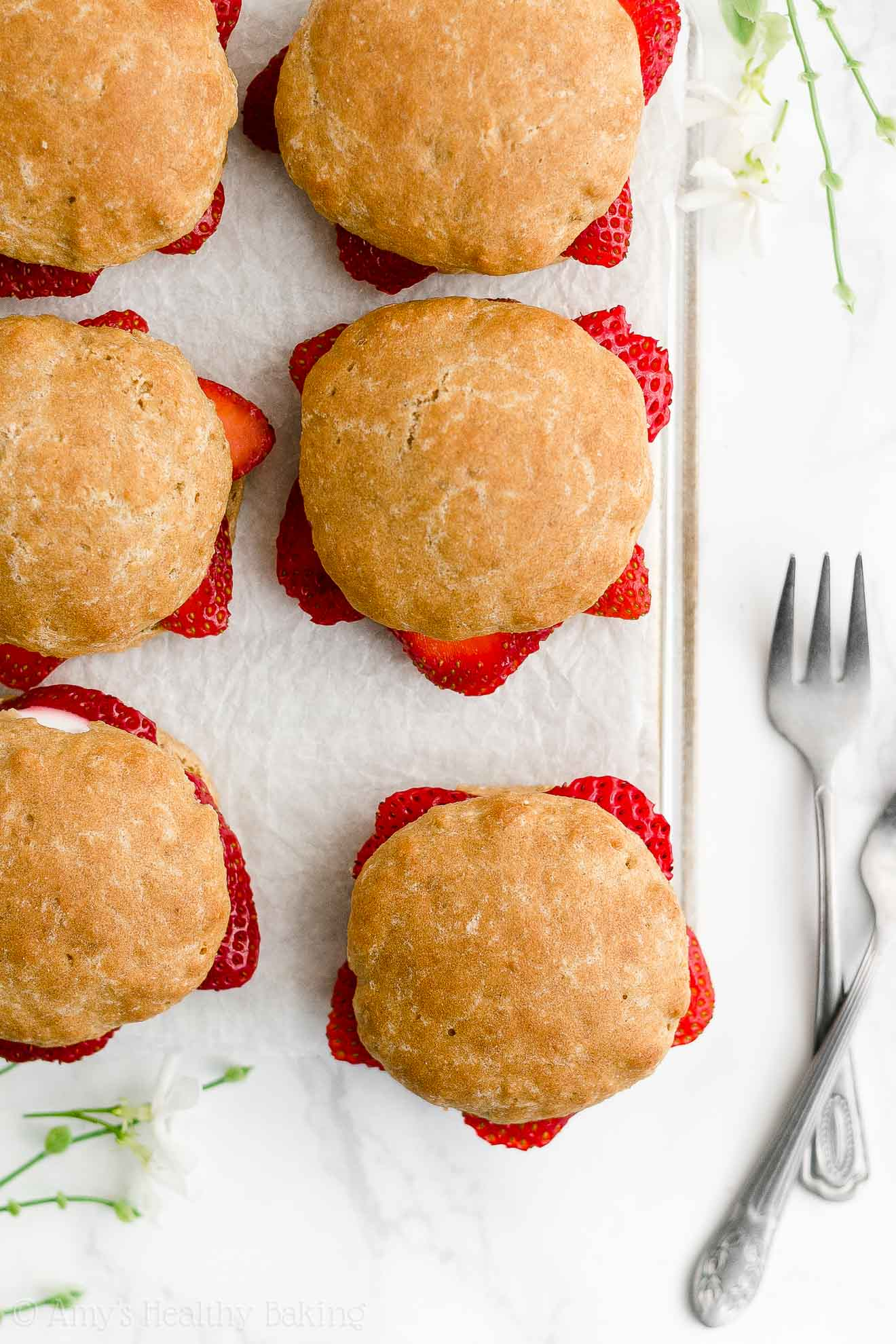 ULTIMATE Best Ever Easy Healthy Whole Wheat Egg Free Strawberry Shortcakes