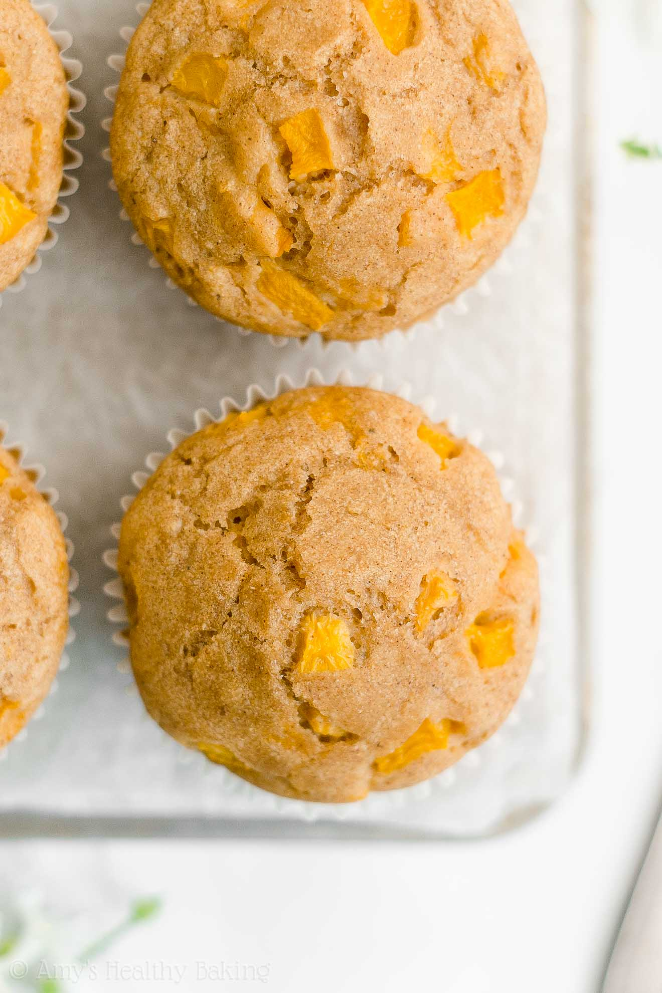 Best Easy Healthy Low Calorie Sugar Free Weight Watchers Fresh Peach Muffins