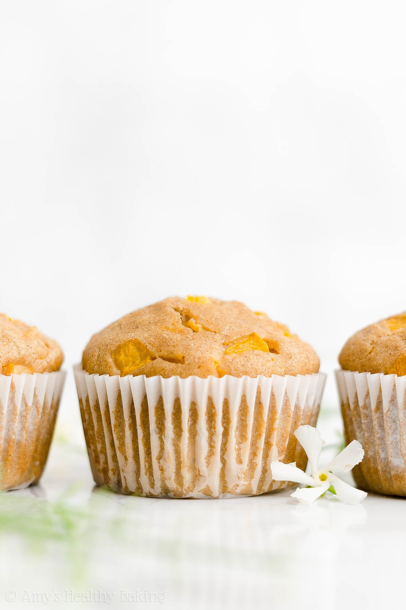 Best Easy Healthy No Sugar Gluten Free Greek Yogurt Canned Peach Muffins