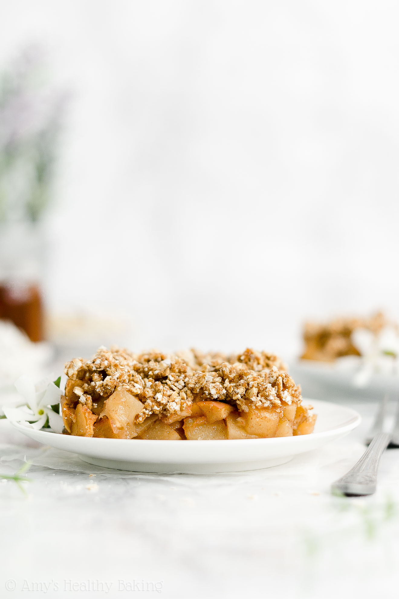 Best Easy Healthy Small Batch Egg Free No Sugar Low Calorie Baked Apple Crisp