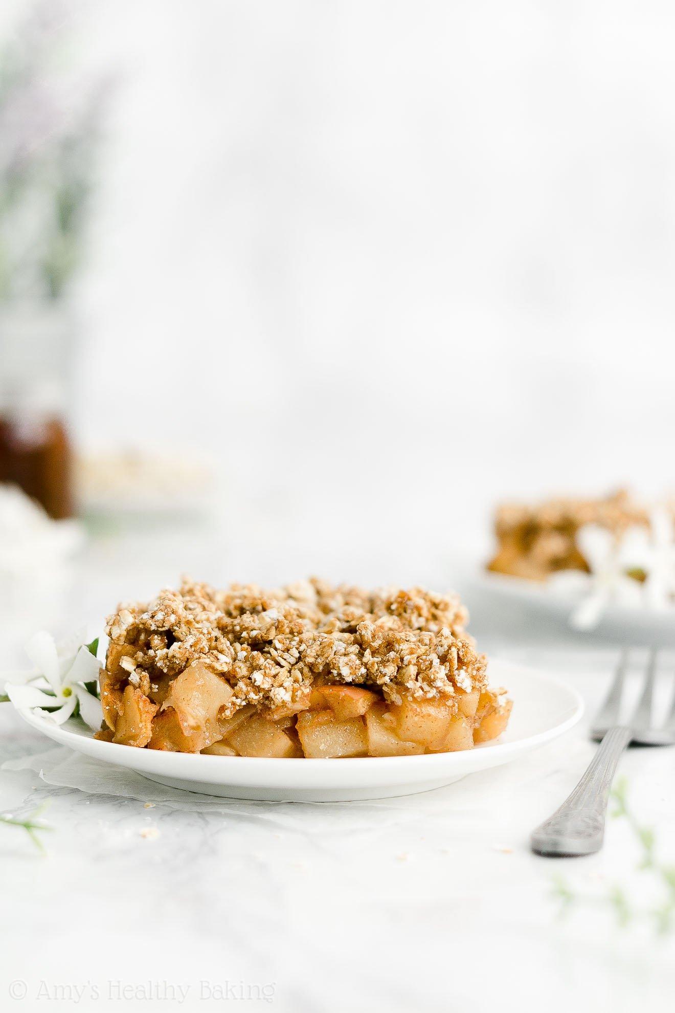 ULTIMATE Best Ever Easy Healthy No Sugar Low Calorie Vegan Classic Apple Crisp