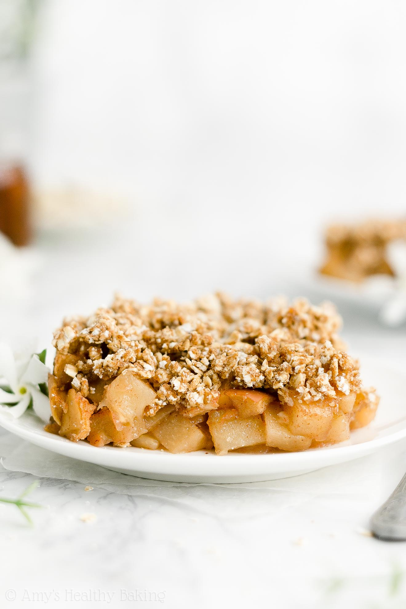 Best Easy Healthy Clean Eating Whole Wheat Low Sugar Apple Crisp No Butter