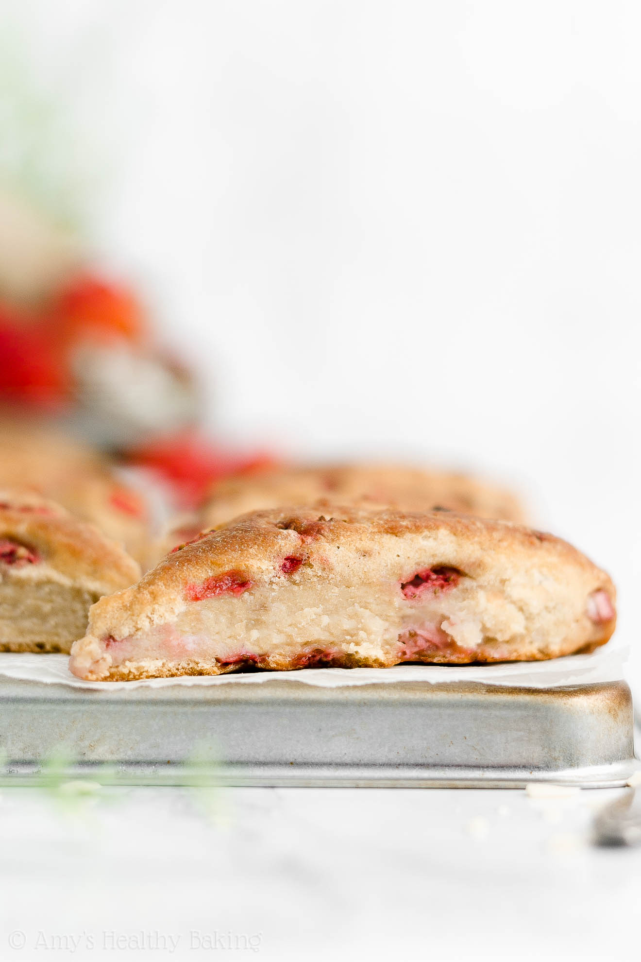 Best Easy Healthy Homemade Eggless Strawberry Scones Without Heavy Cream