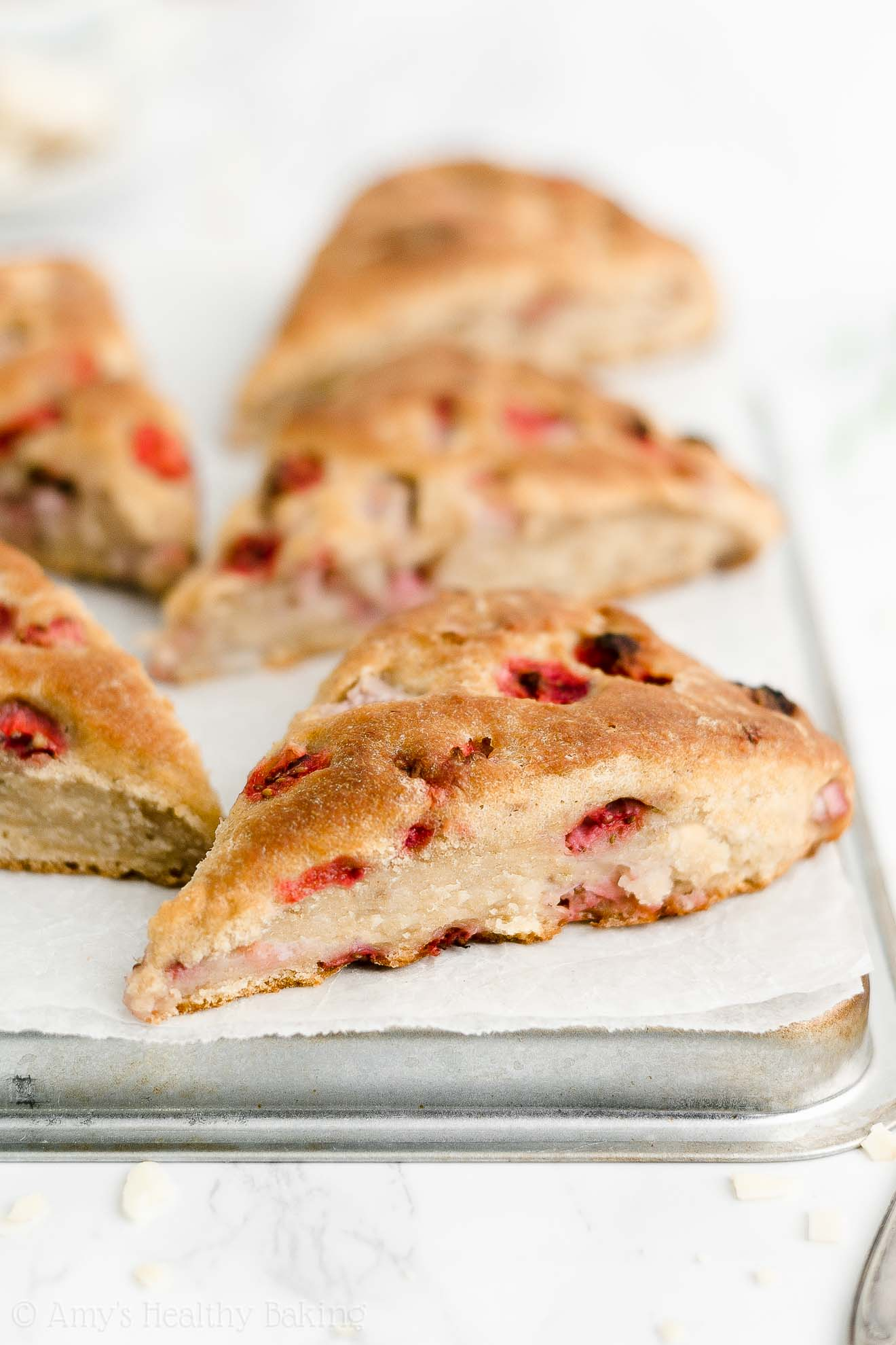Best Easy Healthy Low Calorie Weight Watchers Greek Yogurt Strawberry Scones