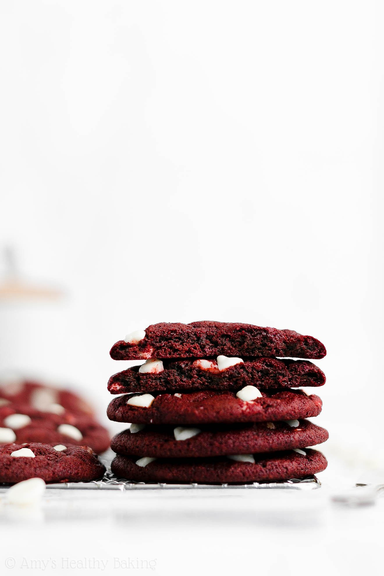 Easy Healthy Weight Watchers Soft Chewy White Chocolate Red Velvet Cookies