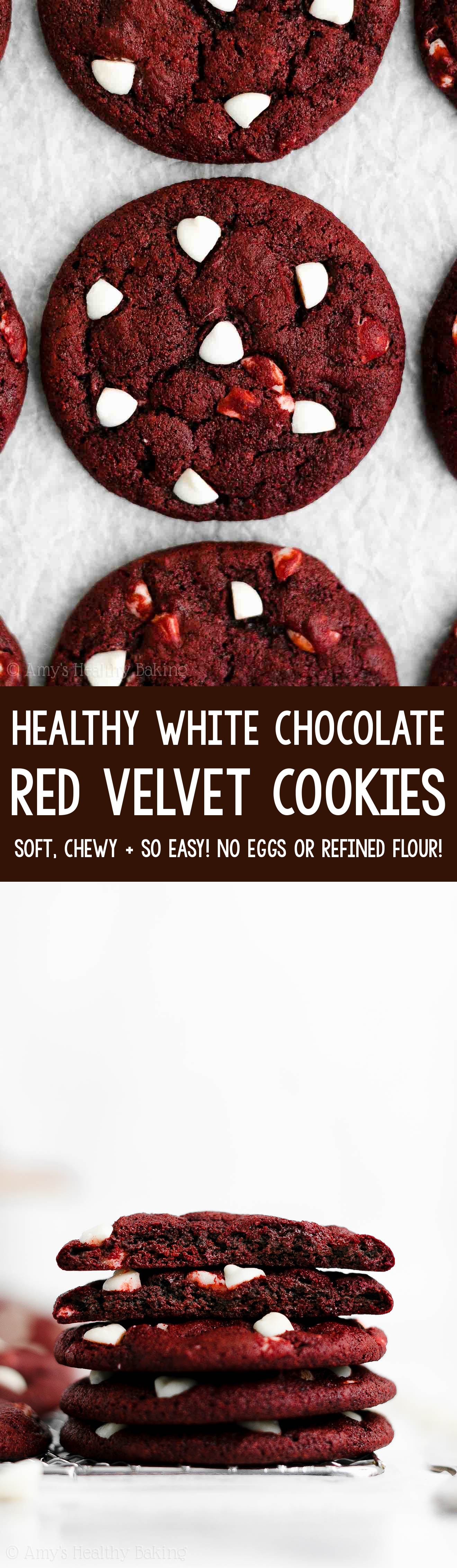 Easy Healthy Homemade Soft Chewy White Chocolate Red Velvet Cookies From Scratch