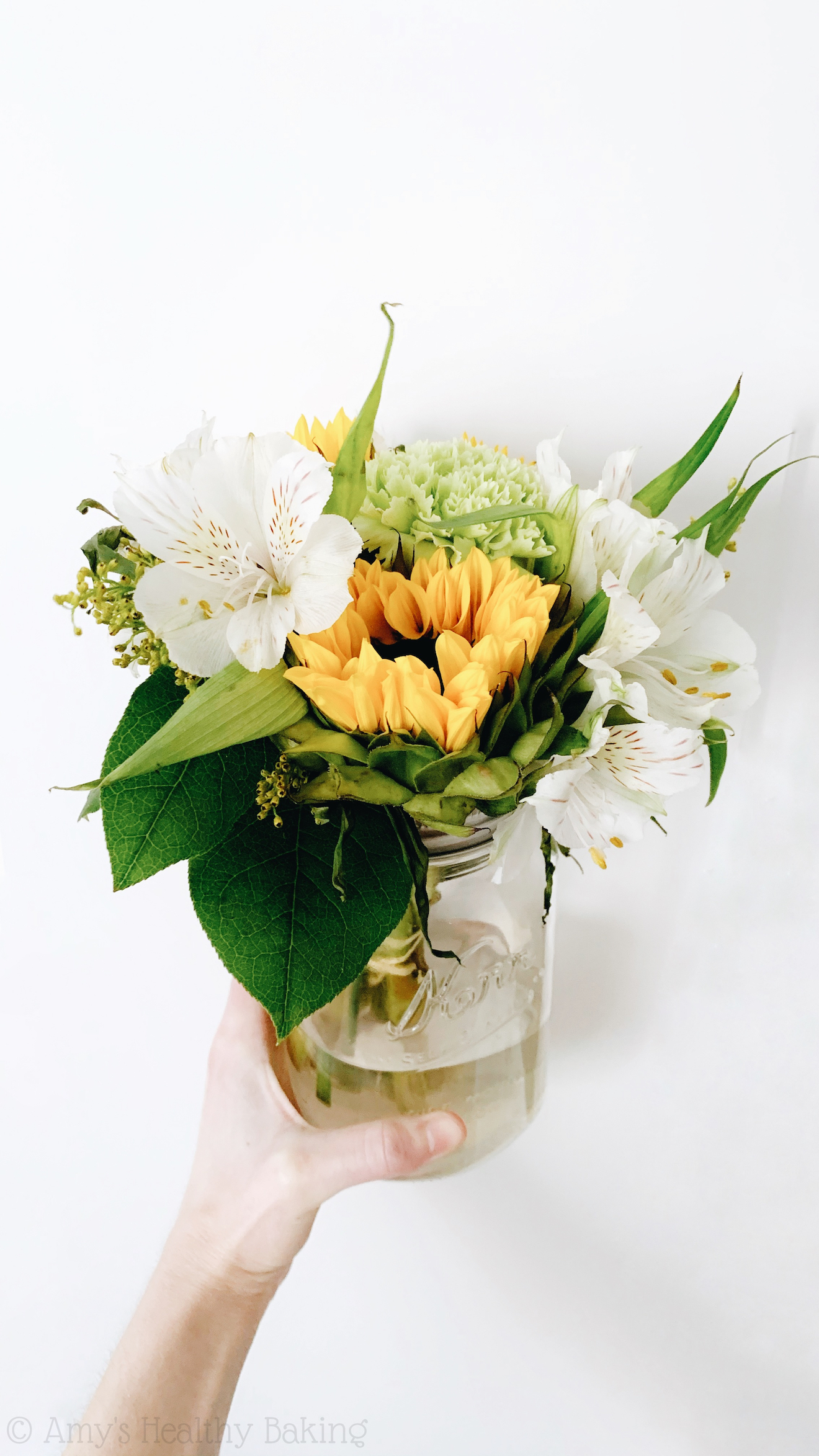 sunflower bouquet, birthday reflections & making an impact on someone's life