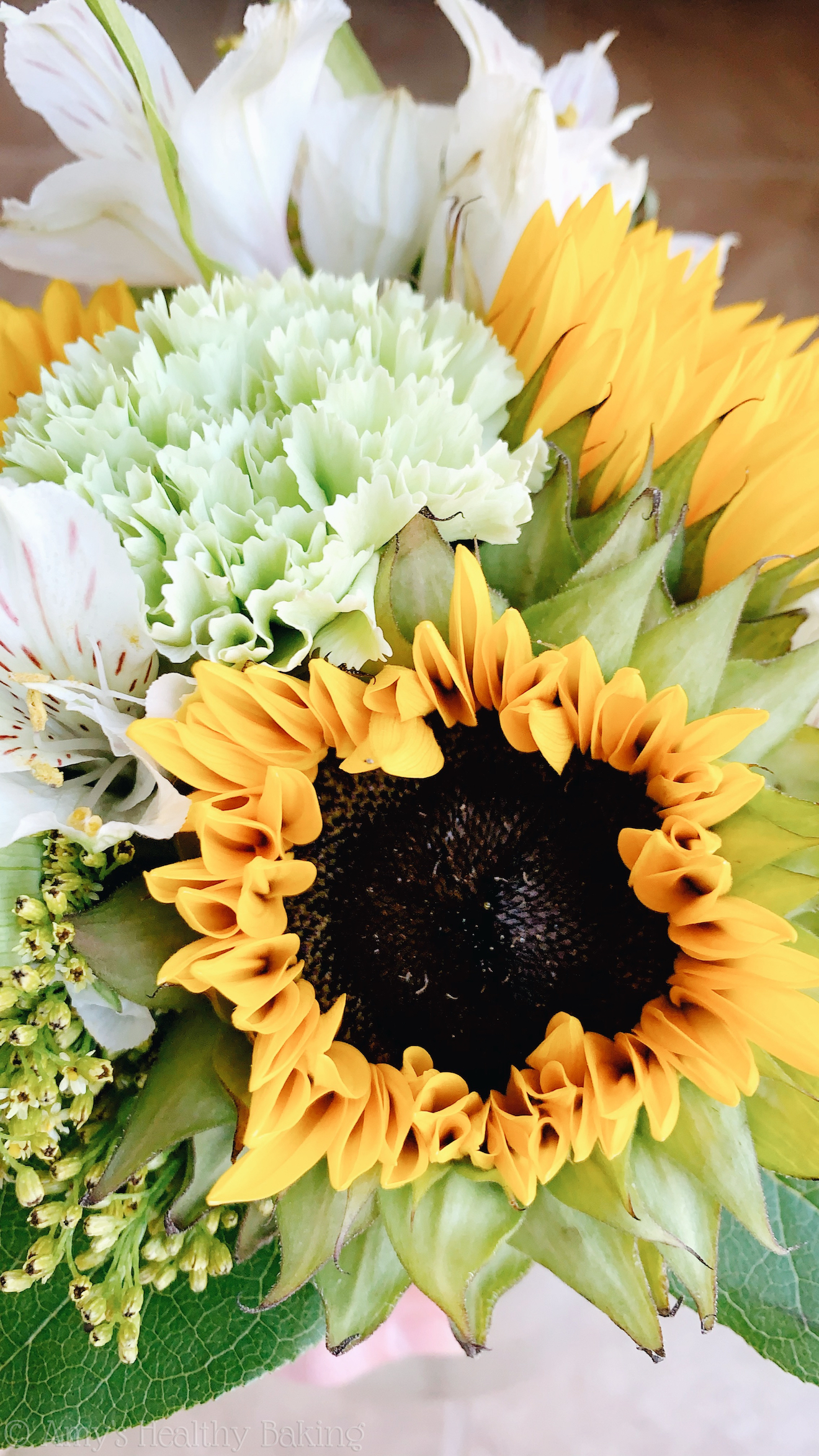 sunflower bouquet & how we may never know how many lives we touch