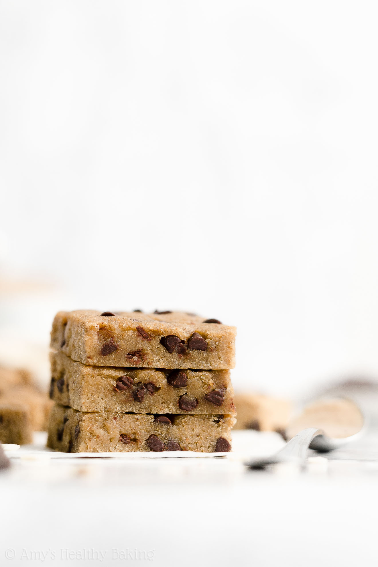 Healthy Gluten Free Vegan Flourless Chocolate Chip Almond Butter Cookie Bars