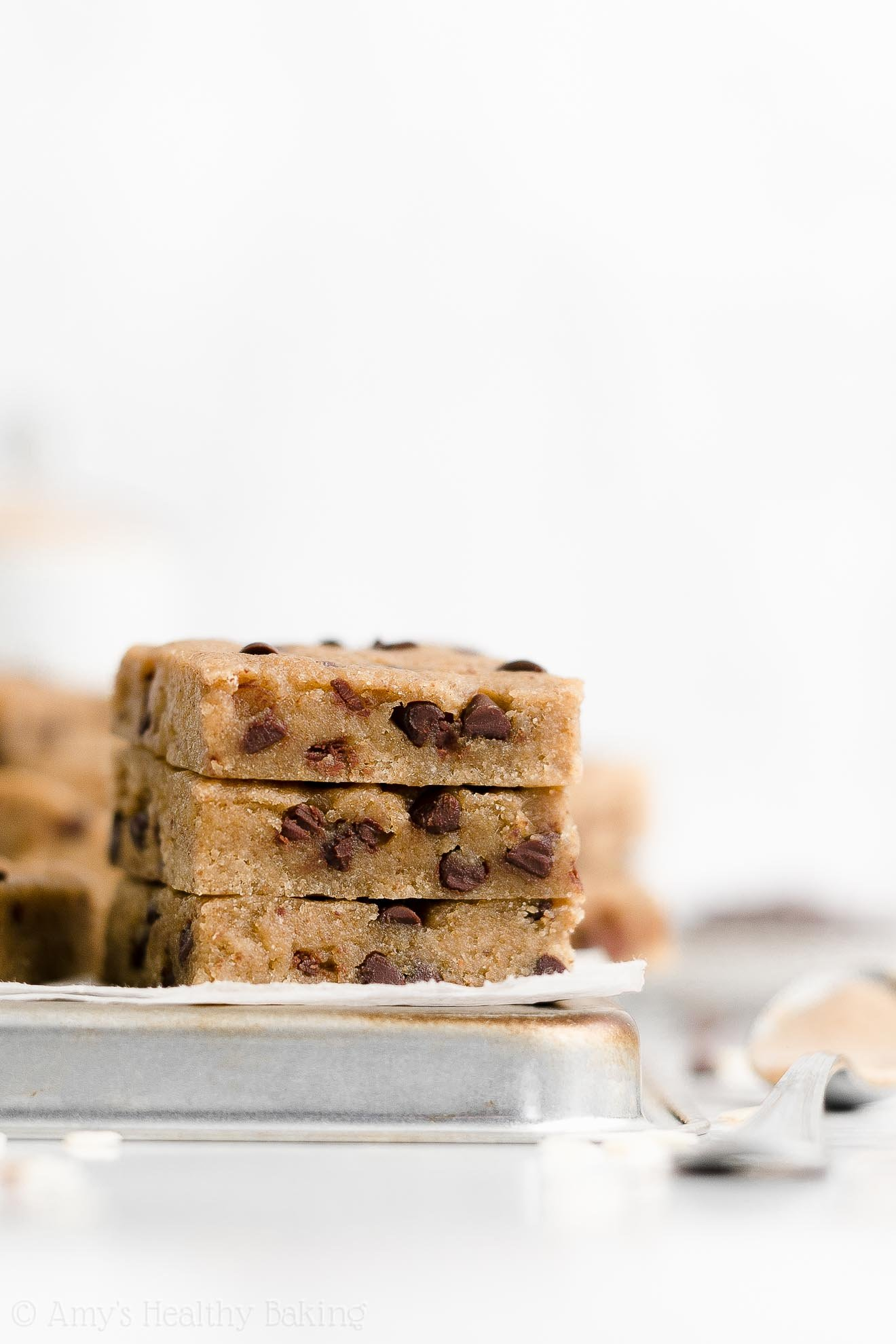 Healthy Weight Watchers Sugar Free Chocolate Chip Almond Butter Cookie Bars