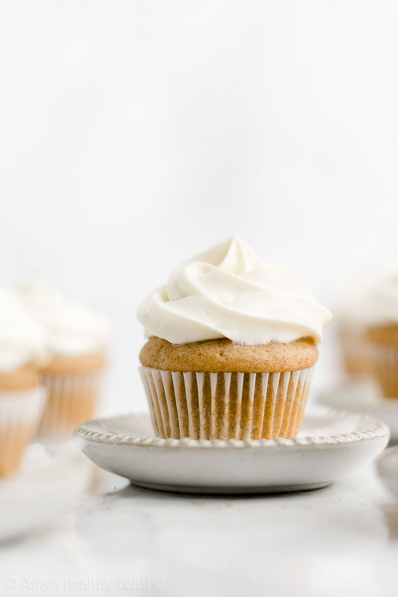 Healthy Low Calorie Sugar Free Whole Wheat Mini Snickerdoodle Cupcakes