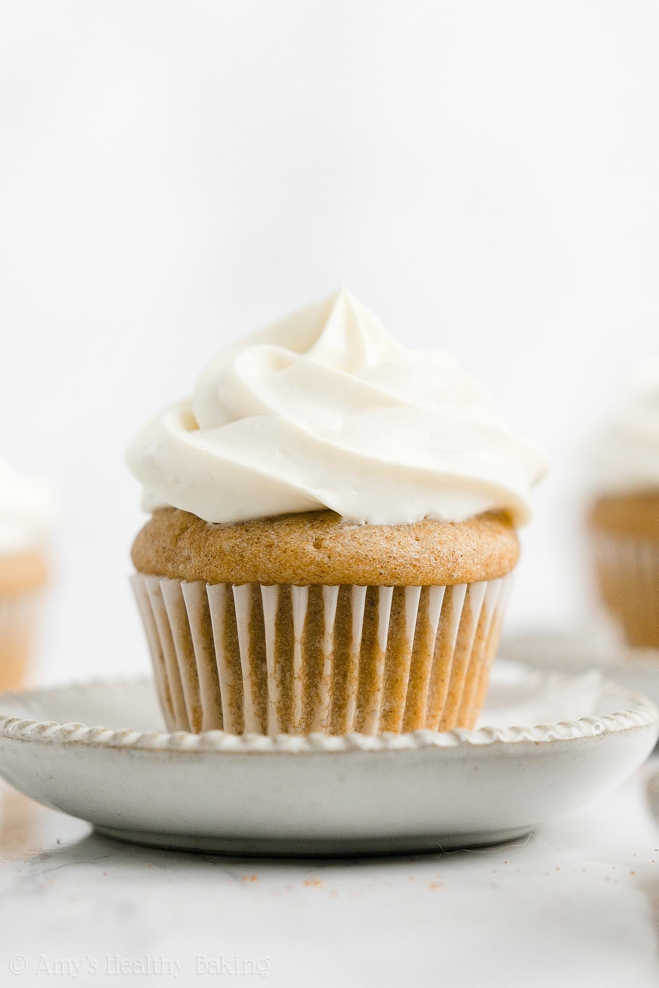 Best Easy Healthy Low Calorie Sugar Free Moist Mini Snickerdoodle Cupcakes