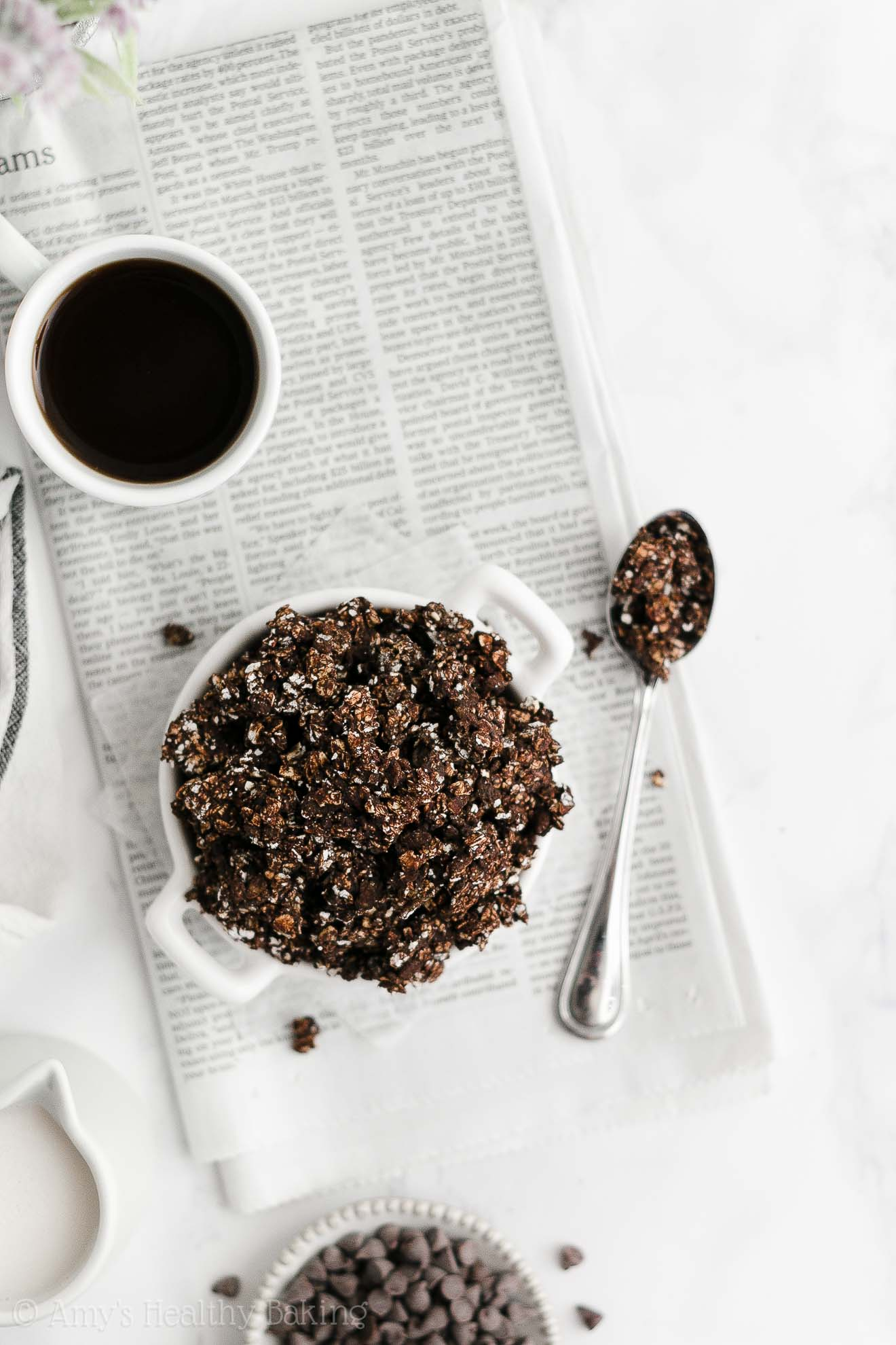 Best Easy Healthy Low Calorie Dairy Free Crunchy Dark Chocolate Granola