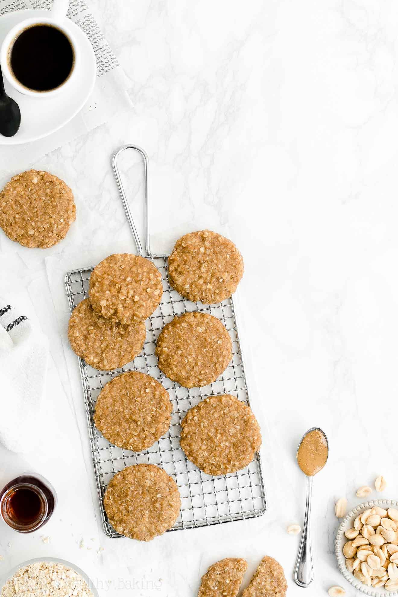 Best Easy Healthy Gluten-Free Vegan Peanut Butter Oatmeal Breakfast Cookies