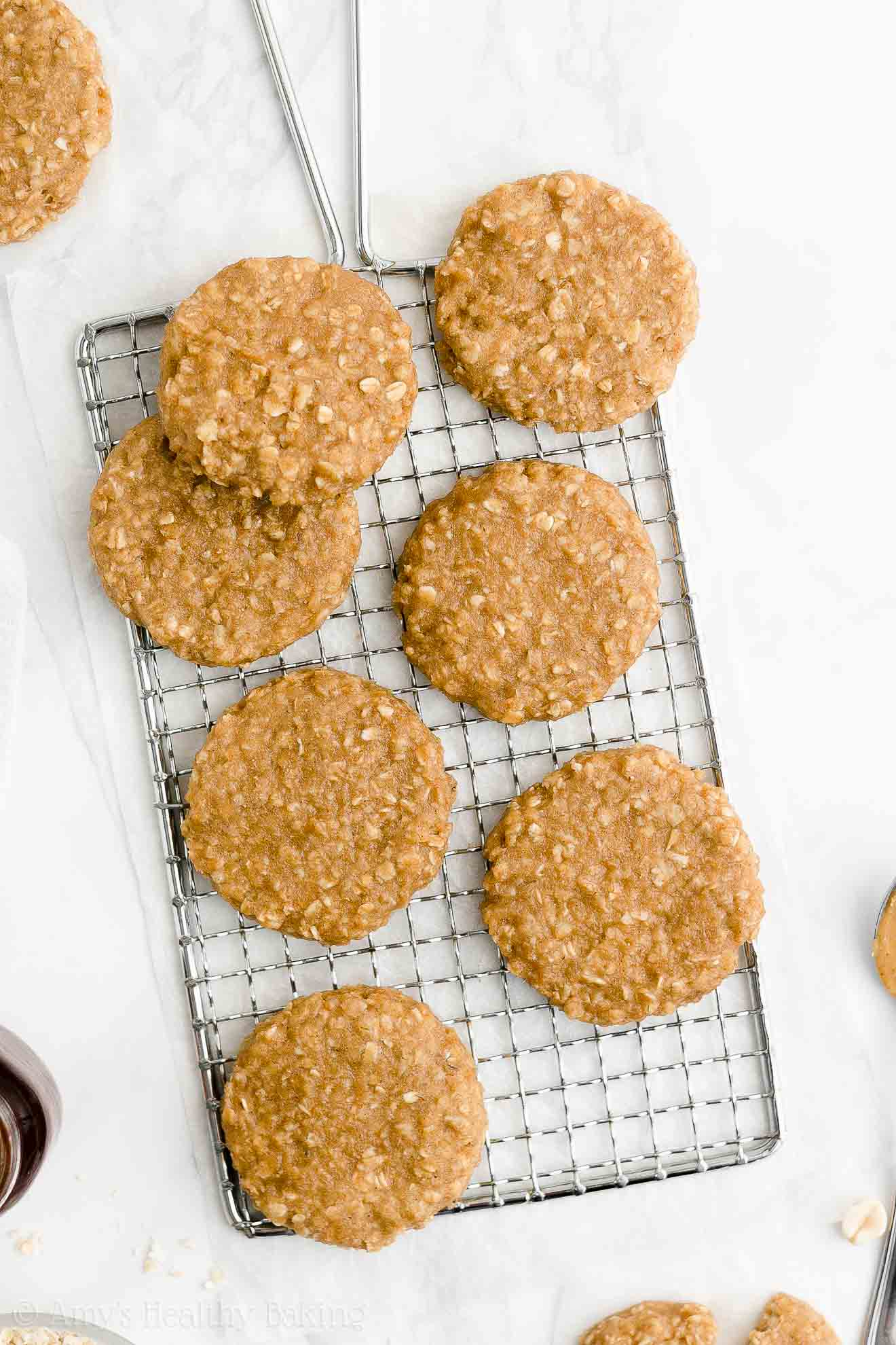 Easy Healthy Low Sugar Soft Chewy Flourless Peanut Butter Breakfast Cookies