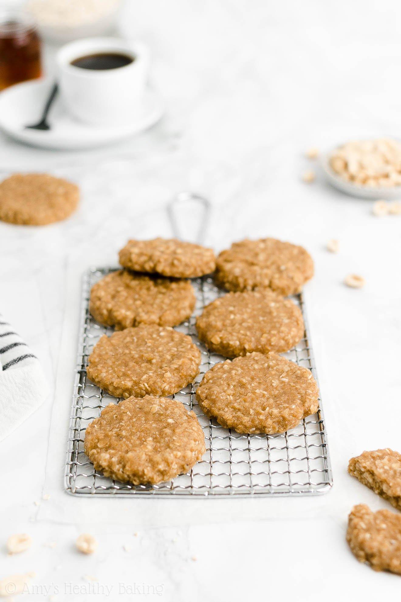 Easy Healthy Weight Watchers Flourless Peanut Butter Oatmeal Breakfast Cookies