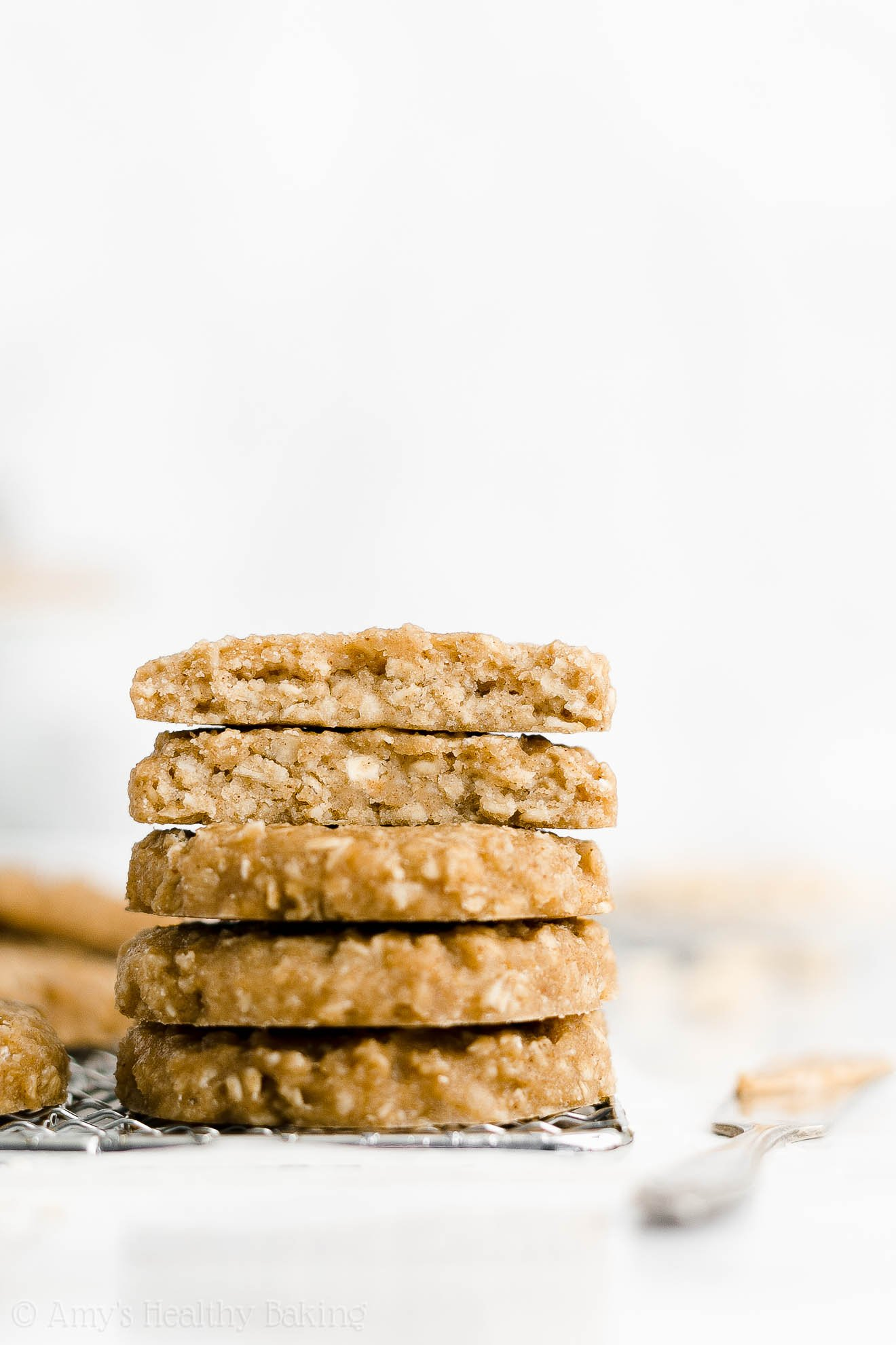 Easy Healthy Low Fat Eggless Dairy Free Chewy Peanut Butter Breakfast Cookies