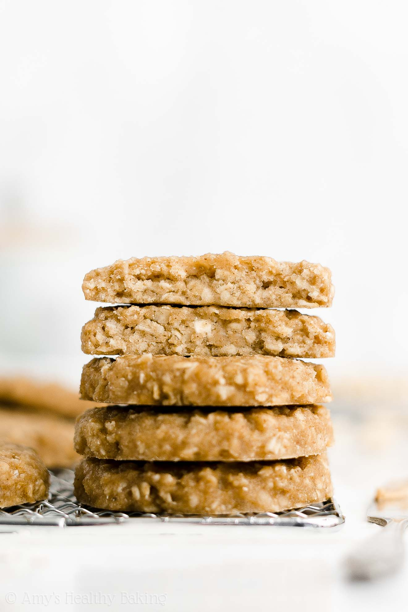 Easy Healthy Flourless Eggless Dairy Free Peanut Butter Breakfast Cookies