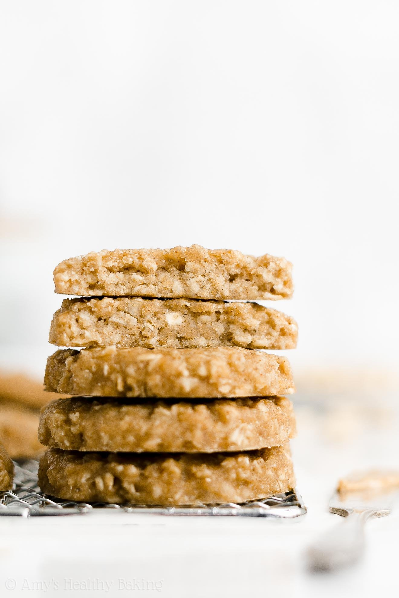Best Easy Healthy Eggless Dairy Free Peanut Butter Oatmeal Breakfast Cookies