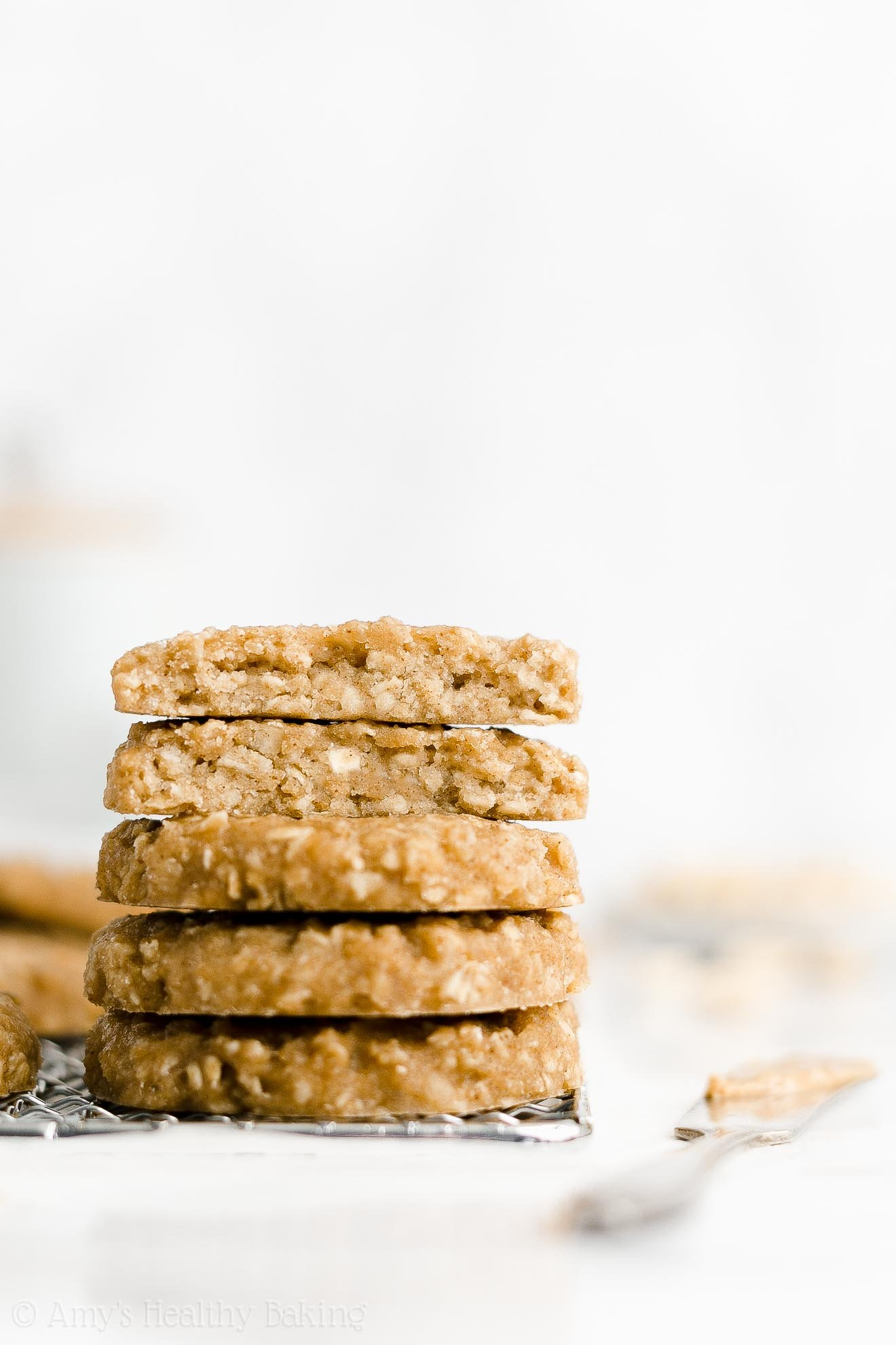 Easy Healthy Clean Eating Low Calorie Flourless Peanut Butter Breakfast Cookies