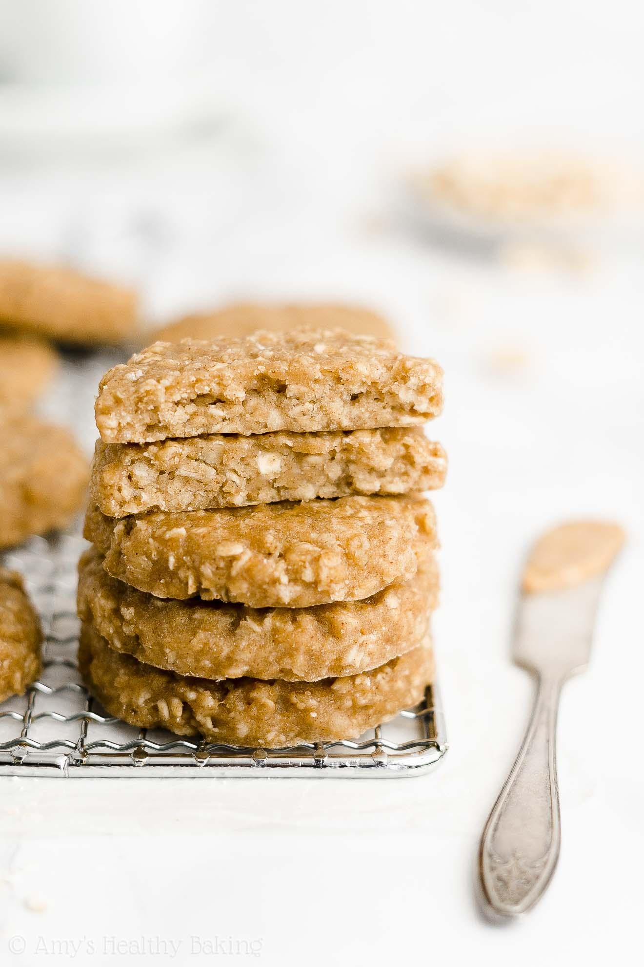 Easy Healthy Gluten Free Dairy Free Peanut Butter Oatmeal Breakfast Cookies