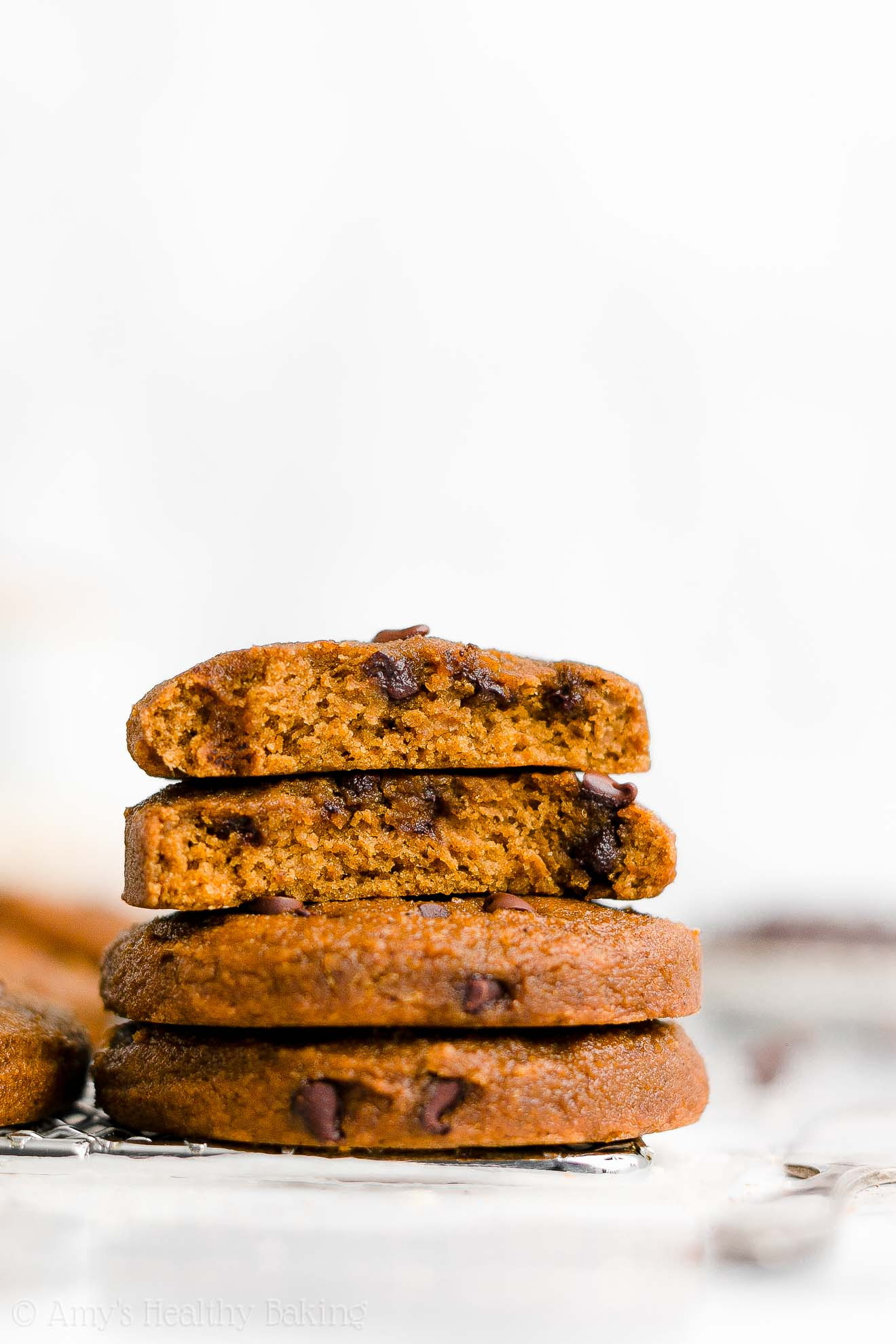 Healthy Clean Eating Low Calorie Egg Free Pumpkin Chocolate Chip Cookies