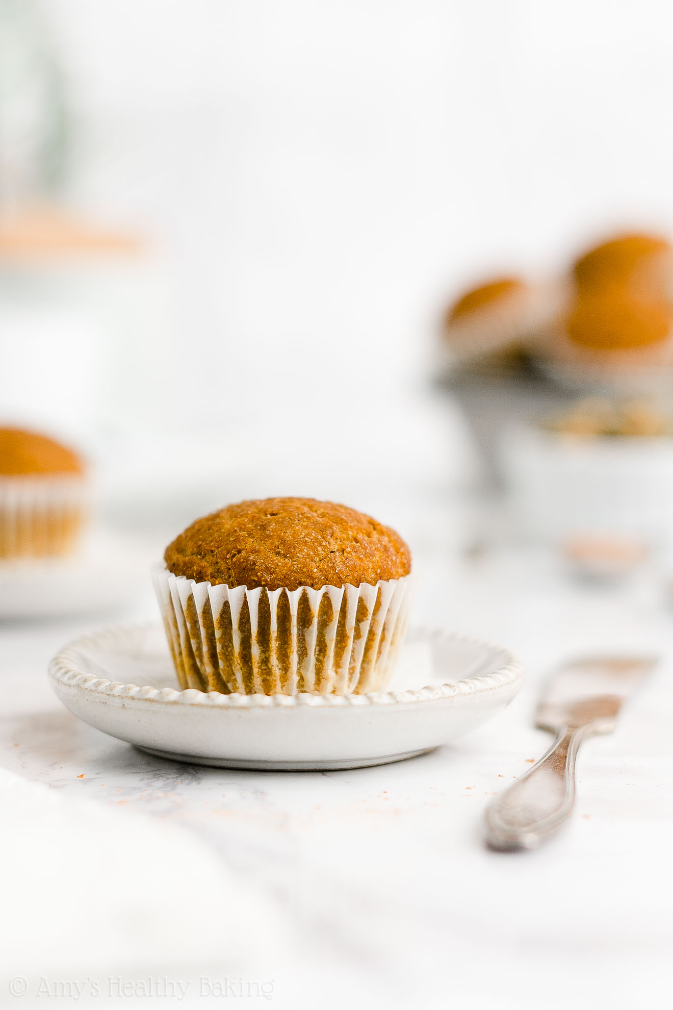 Best Easy Healthy Low Calorie Sugar Free Moist Vegan Pumpkin Mini Muffins