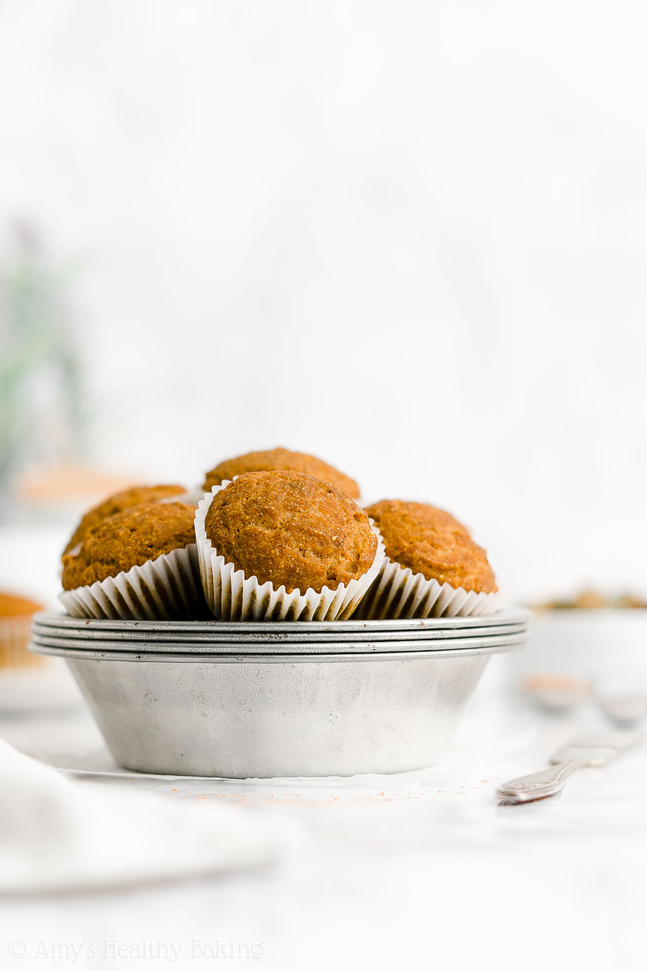 ULTIMATE Best Easy Healthy Moist Eggless No Sugar Vegan Pumpkin Muffins