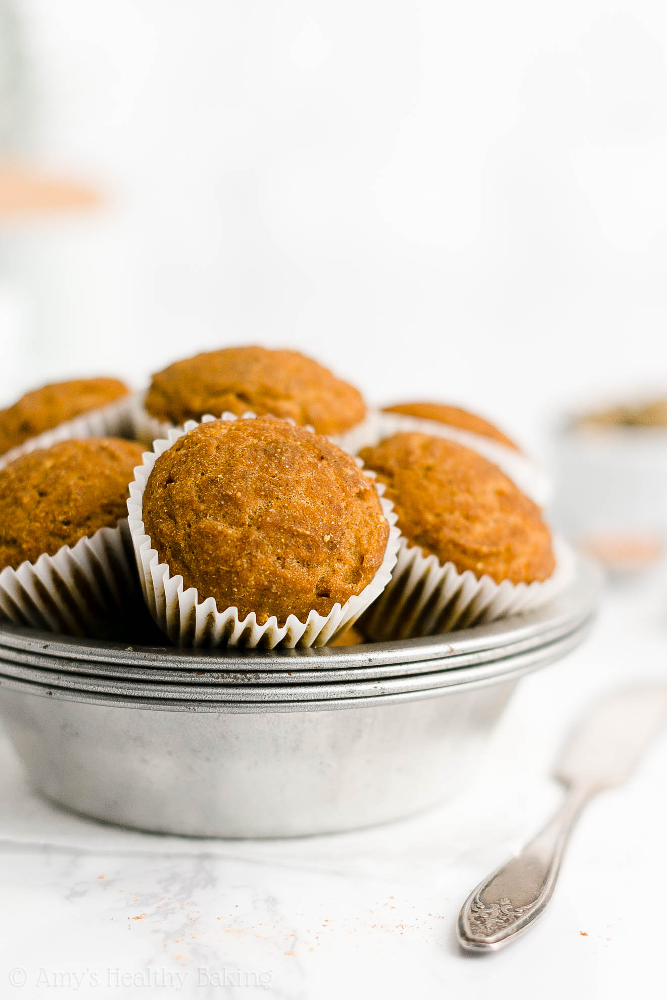 Best Easy Healthy Whole Wheat Clean Eating Dairy Free Pumpkin Muffins